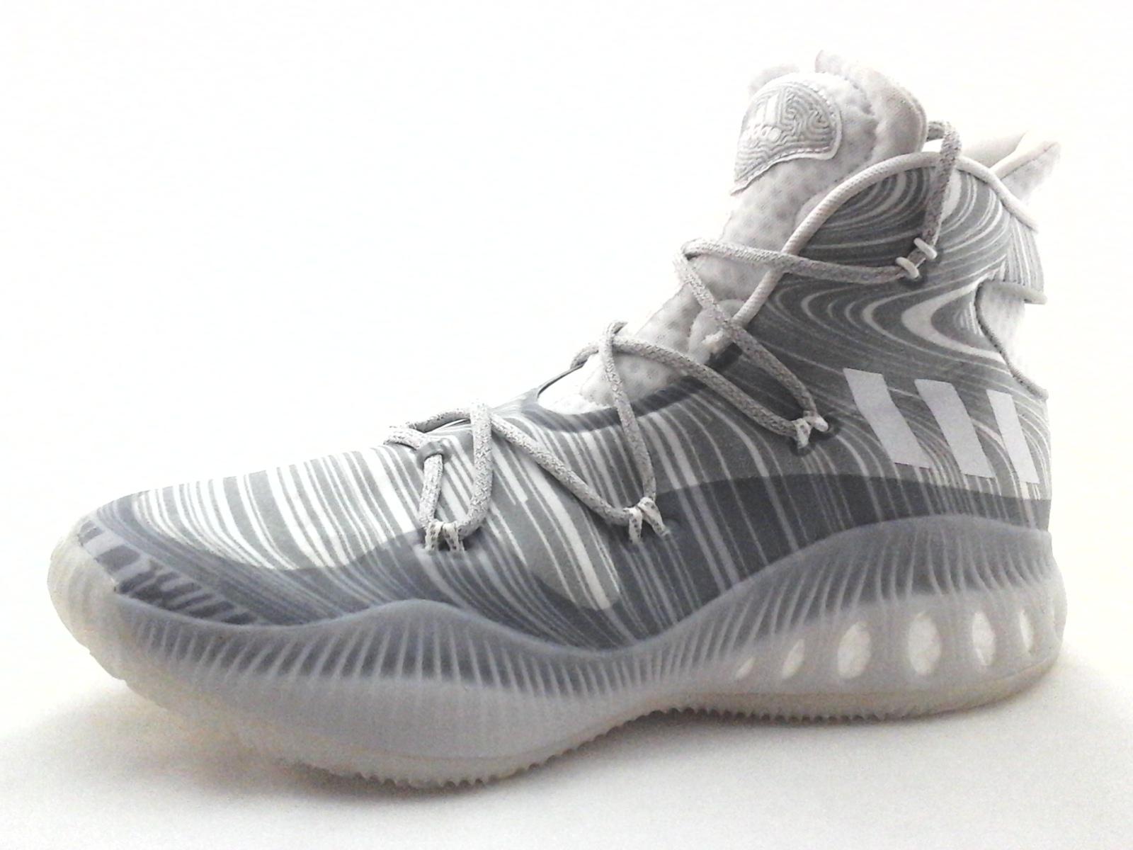 the best attitude a838c 2e1f1 ADIDAS Crazy Explosive Basketball Shoes White Gray B42424 Mens US 12.5 EU  47 13