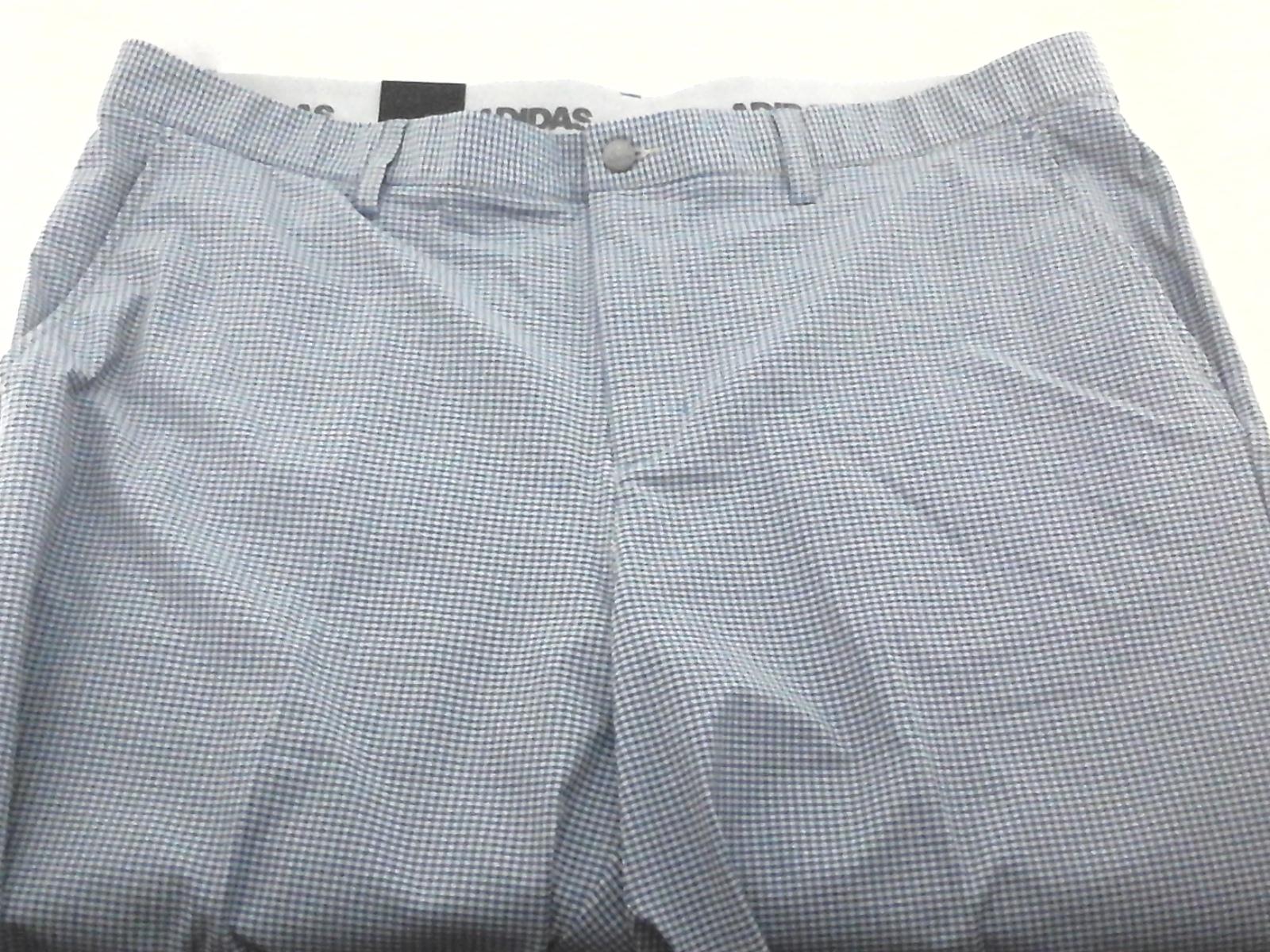 61efa83f ADIDAS Golf Shorts Blue Gray Gingham Ultimate 365 CD9884 Active ...
