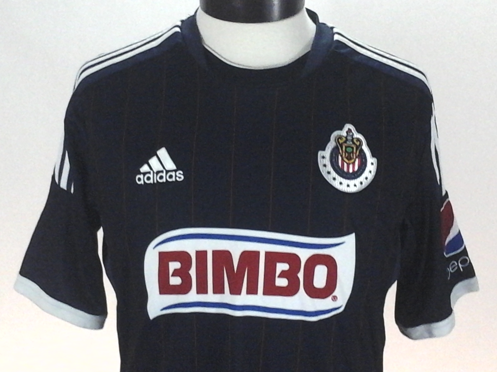 f5e930eed4c Details about ADIDAS Jersey Guadalajara Mexico Soccer Futbol Stripe  Blue Red ClimaCool Men s M