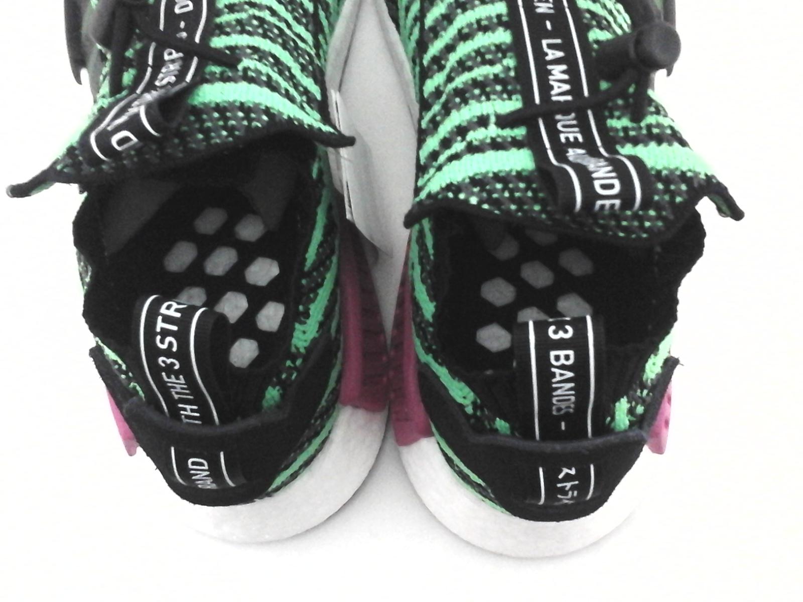 526eefcbe6d08 ADIDAS NMD Boost Running Shoes Green PK Knit Slip On B37628 Mens US 8 EU 41  1 3