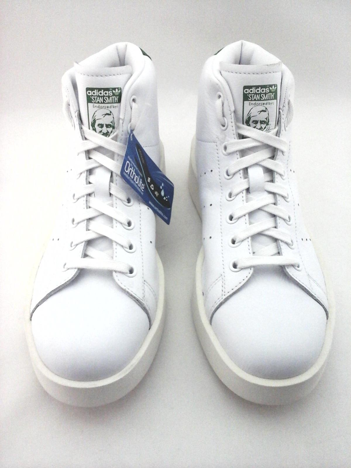 pretty nice 9e5e8 86462 ADIDAS Stan Smith Platform Bold Mid Shoes White Green ...
