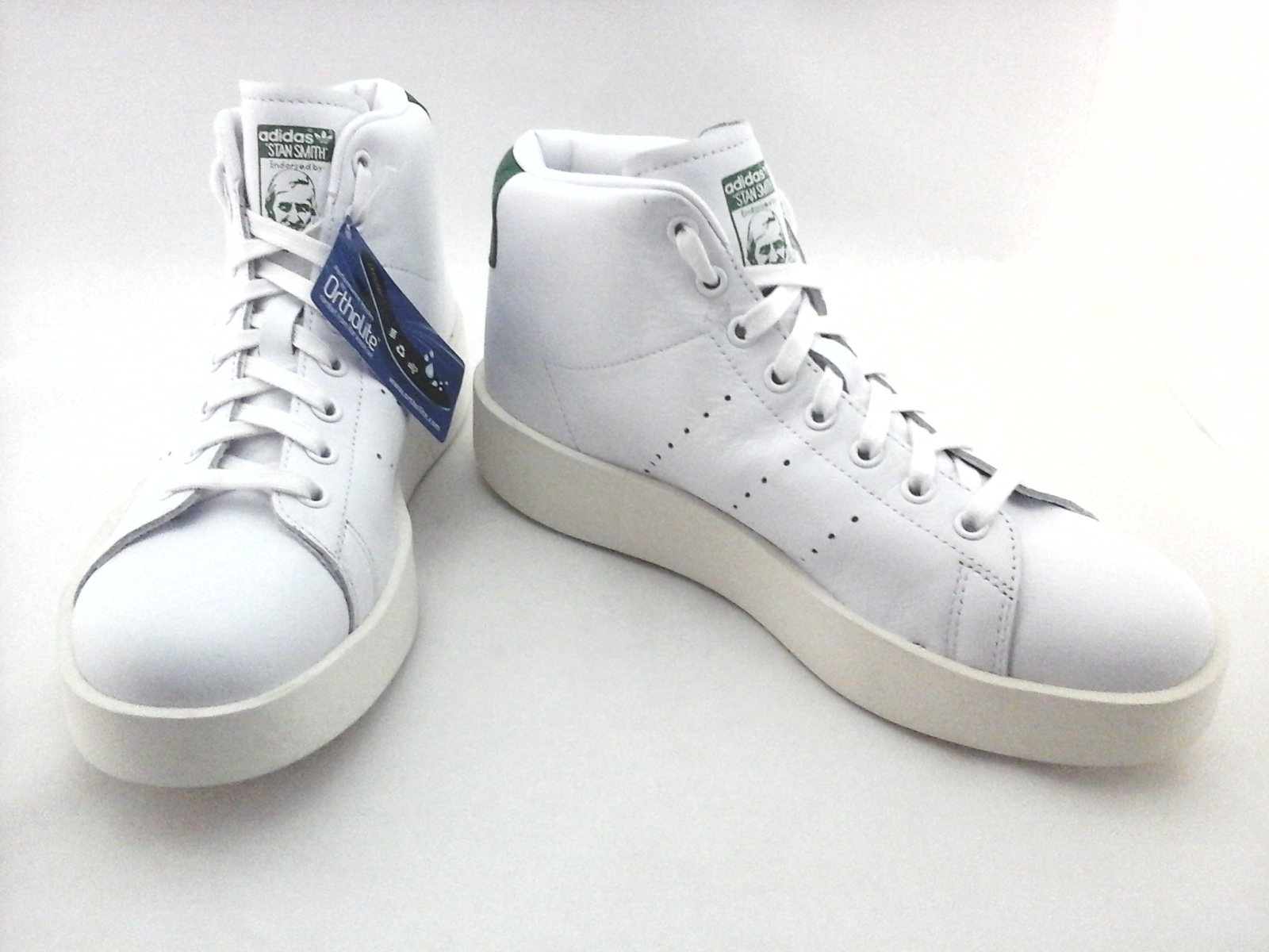 241186afb15 ADIDAS Stan Smith Platform Bold Mid Shoes White Green Leather BY9663  Women s New