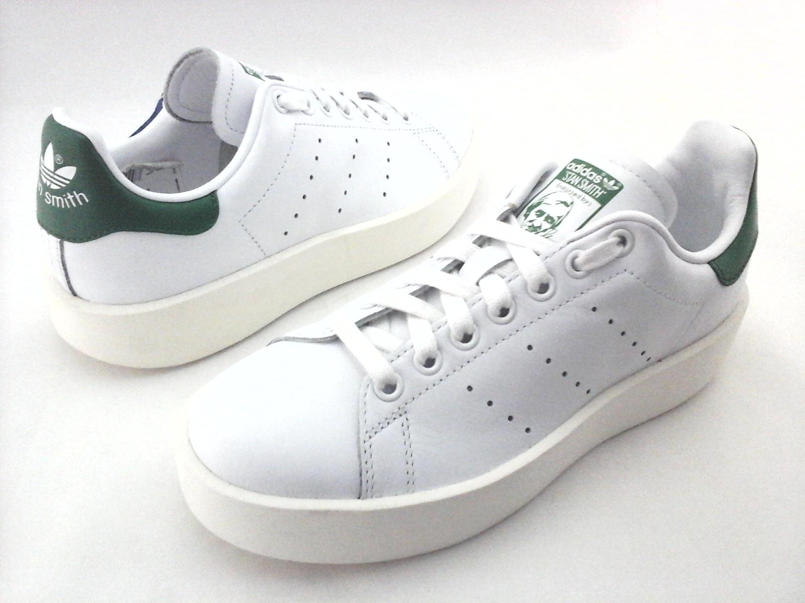 7fdd0411c4b3 ADIDAS Stan Smith Platform Bold Shoes White Green S32266 Women s US 6.5 EU  38
