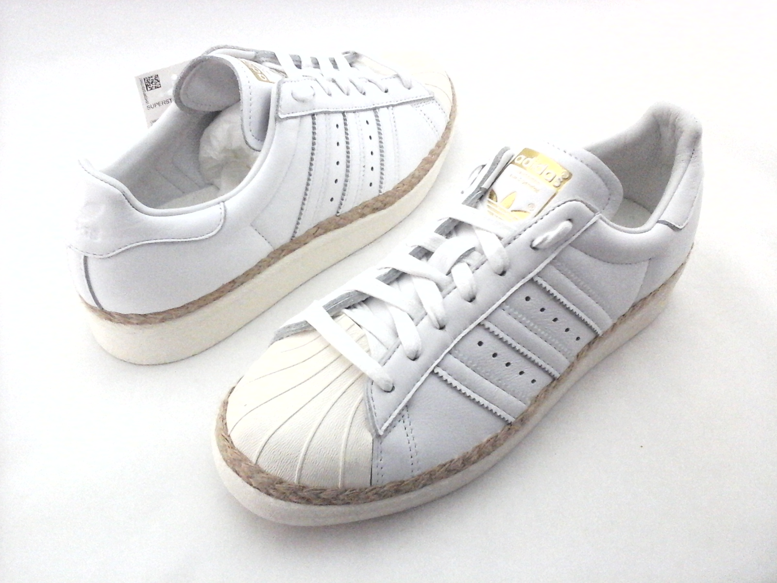 new concept 202da 0ac63 ADIDAS Superstar Shoes Bold Espadrilles White DA9573 Women s US 8 EU 40 New