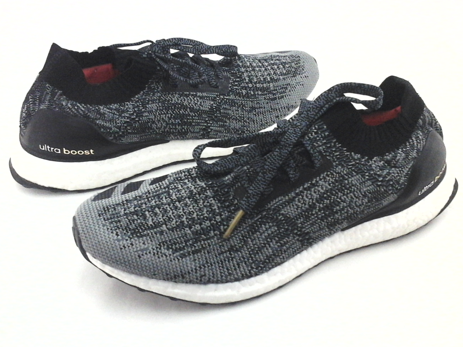 15adcb111dfd5 ADIDAS UltraBoost Running Shoes Black Knit Uncaged BB3900 Mens US 12.5  47  1 3
