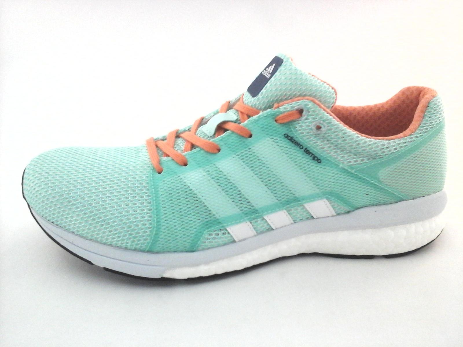 2e0e378e0e56 Adidas Adizero Tempo Boost BA8095 Women s Running Shoes Sneakers Green 8.5    12