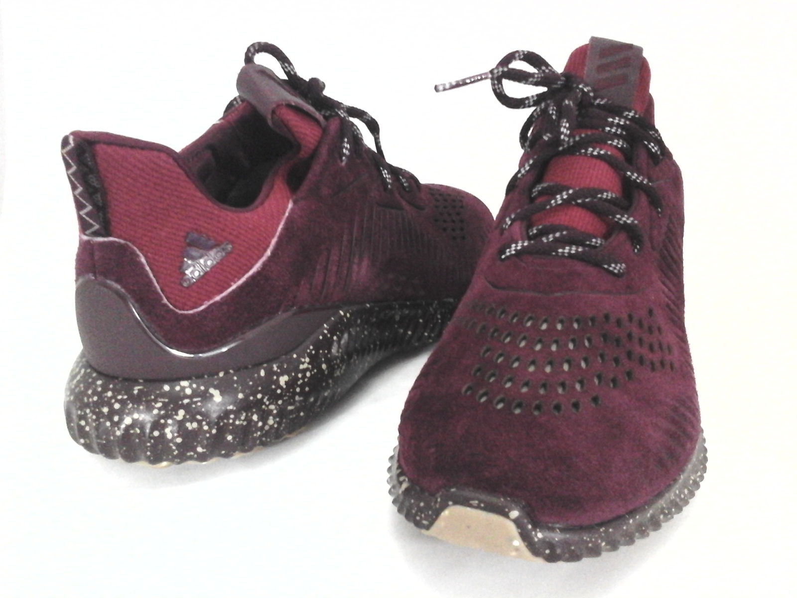 san francisco c254b e3a0c ADIDAS Alphabounce Shoes Sneakers Maroon Red Suede CQ1189 Mens US 13 EU 48  New