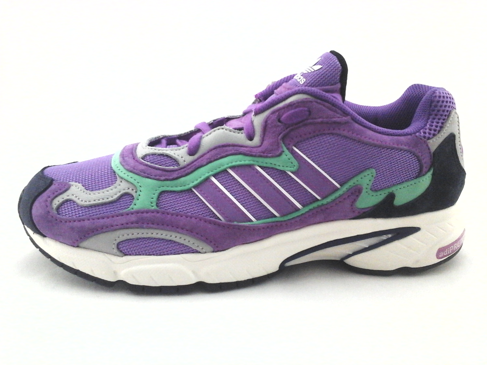 32ad80b72e8 Adidas TEMPER RUN Running Shoes Shock Purple and Green Sneakers F97208  Men s New