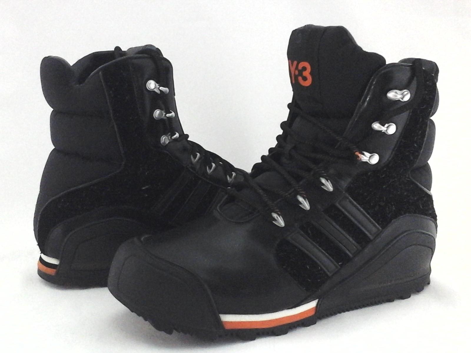 09f453c65b68 ADIDAS Y-3 Yohji Yamamoto Hiking Boots Black 678802 Sneakers Men s US 8.5  EU 42