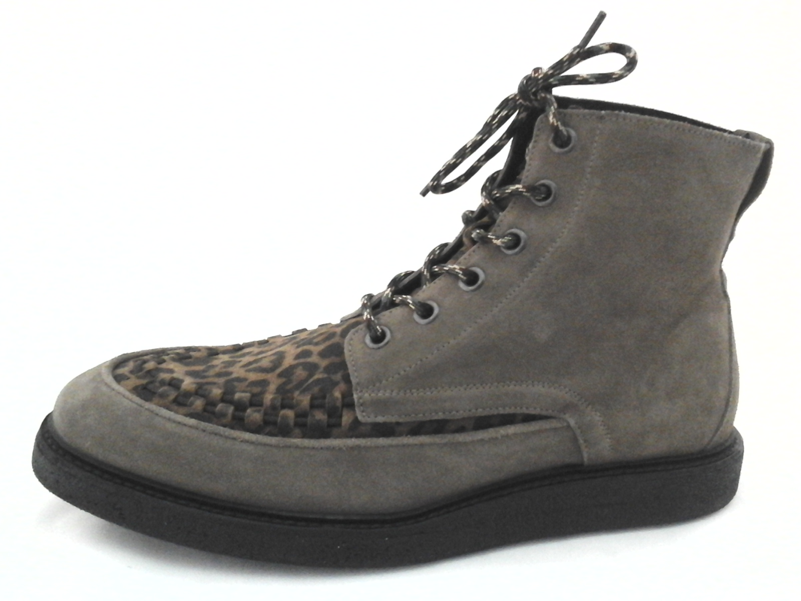 All Saints Moth Mens Fashion Lace Up Boot Taupe Animal Print US 12 ...