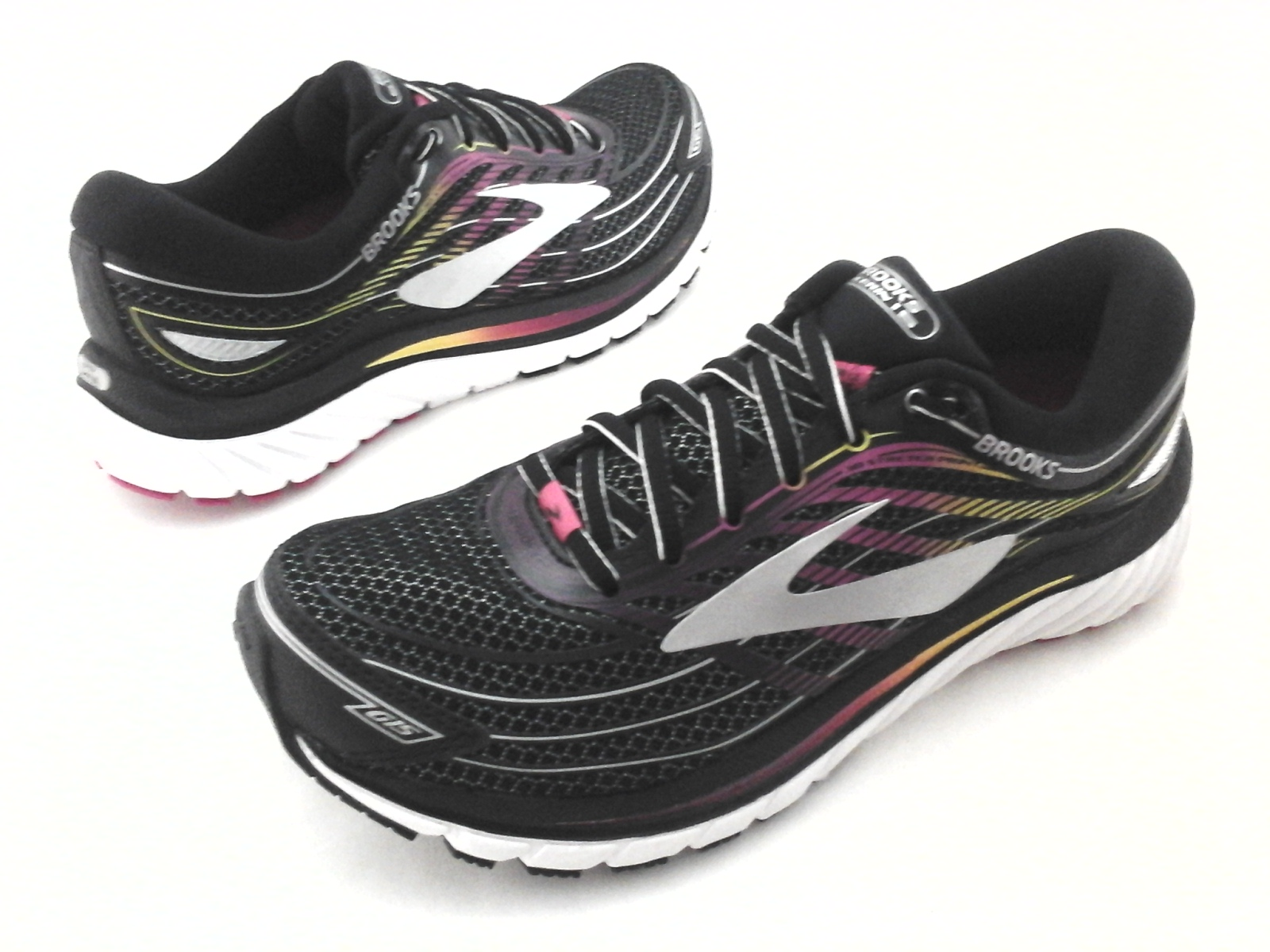 e8adc578f95 BROOKS Glycerin 15 Shoes Black Multi Running Sneakers DNA Womens US 6  36.5   150