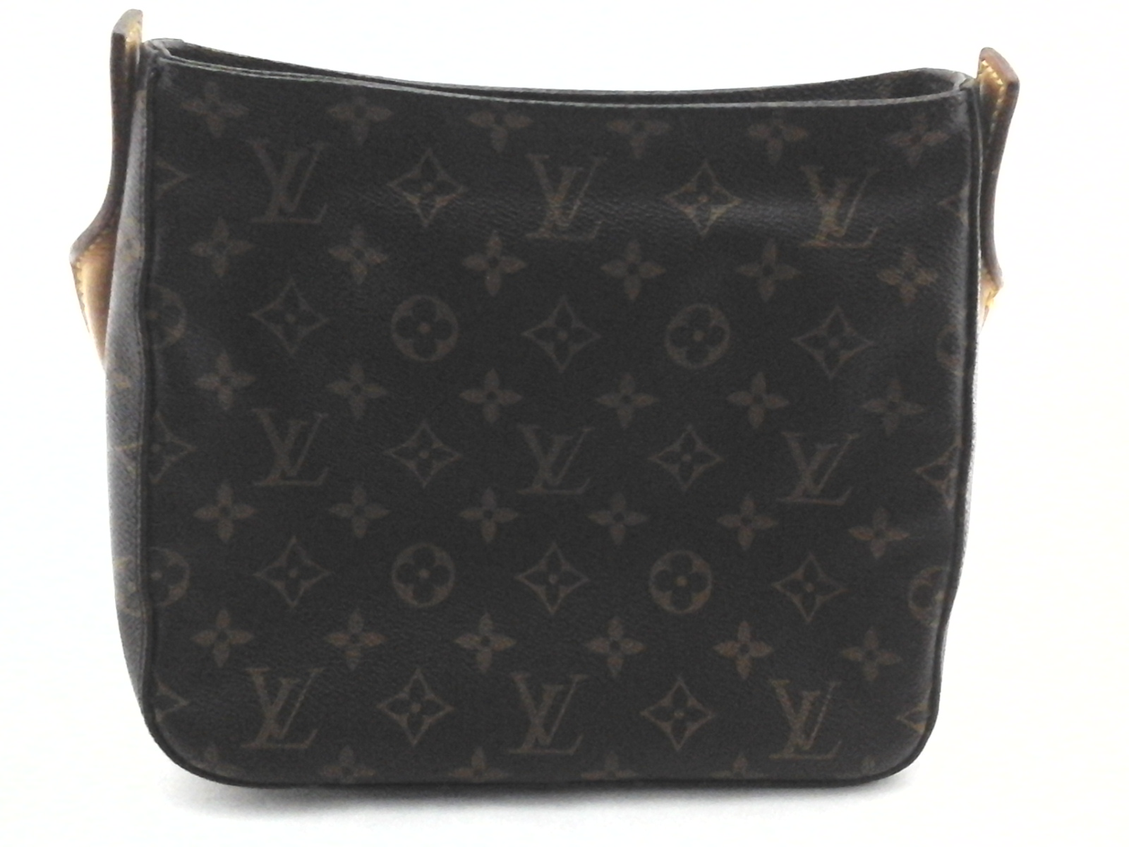4bd07dd21668 Details about LOUIS VUITTON Purse Tote Looping Handbag Shoulder Bag Brown  with LV Logo  1600