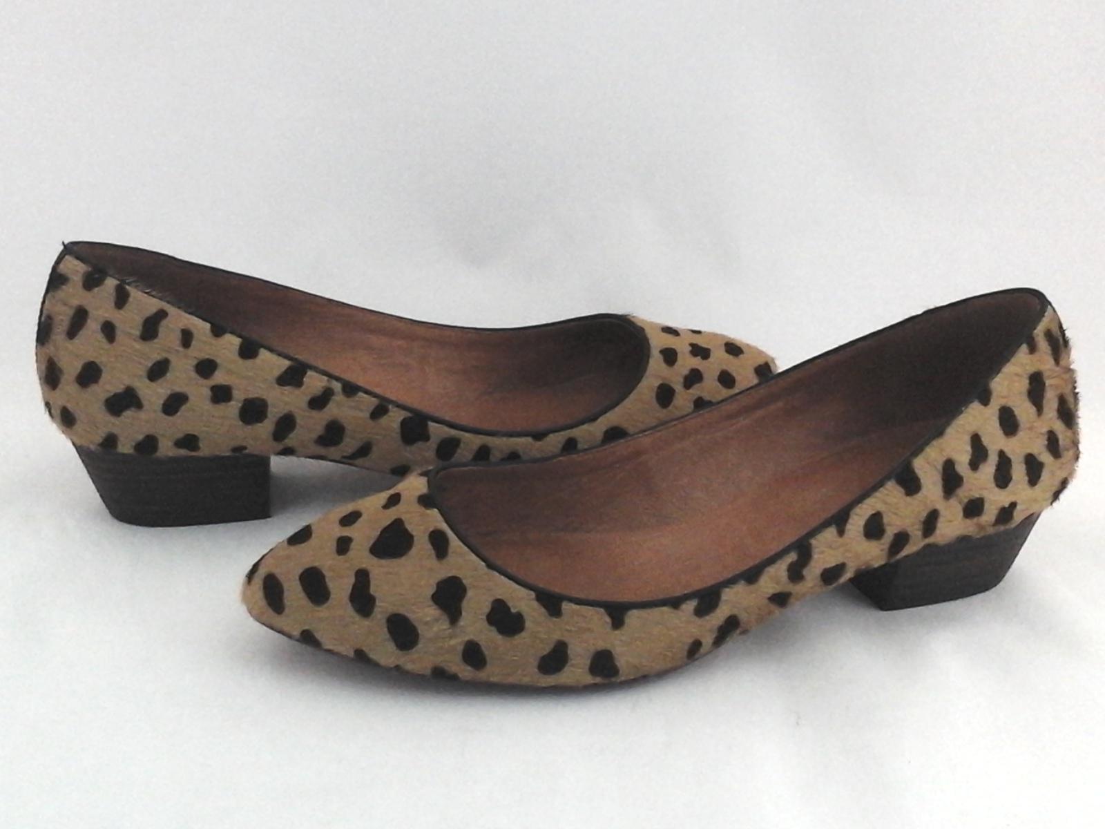 4c521dd0974 MADEWELL Leopard Low Heels Loafers Fur Black Tan Shoes 09167 US 10 EU 41   118
