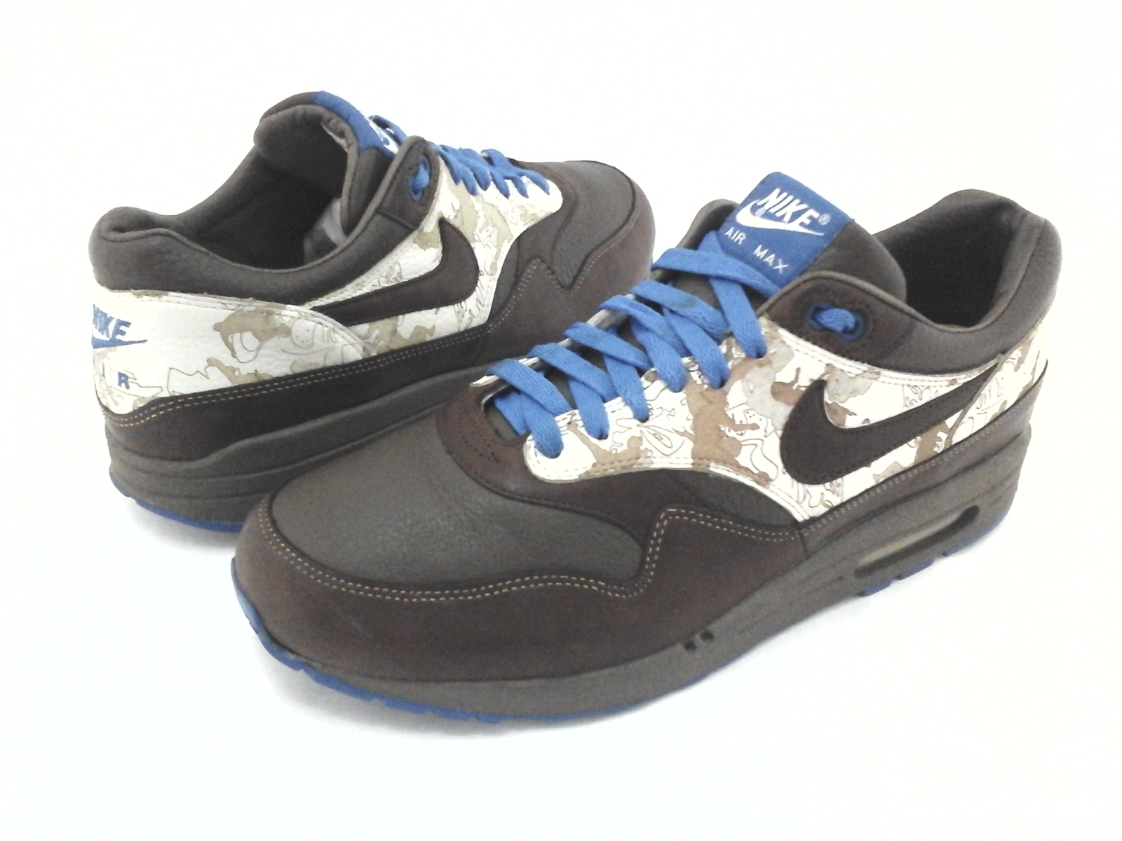 Details about NIKE Air Max 1 Sneakers Brown Leather 2005 309740 Truques Mens US 10.544.5 RARE