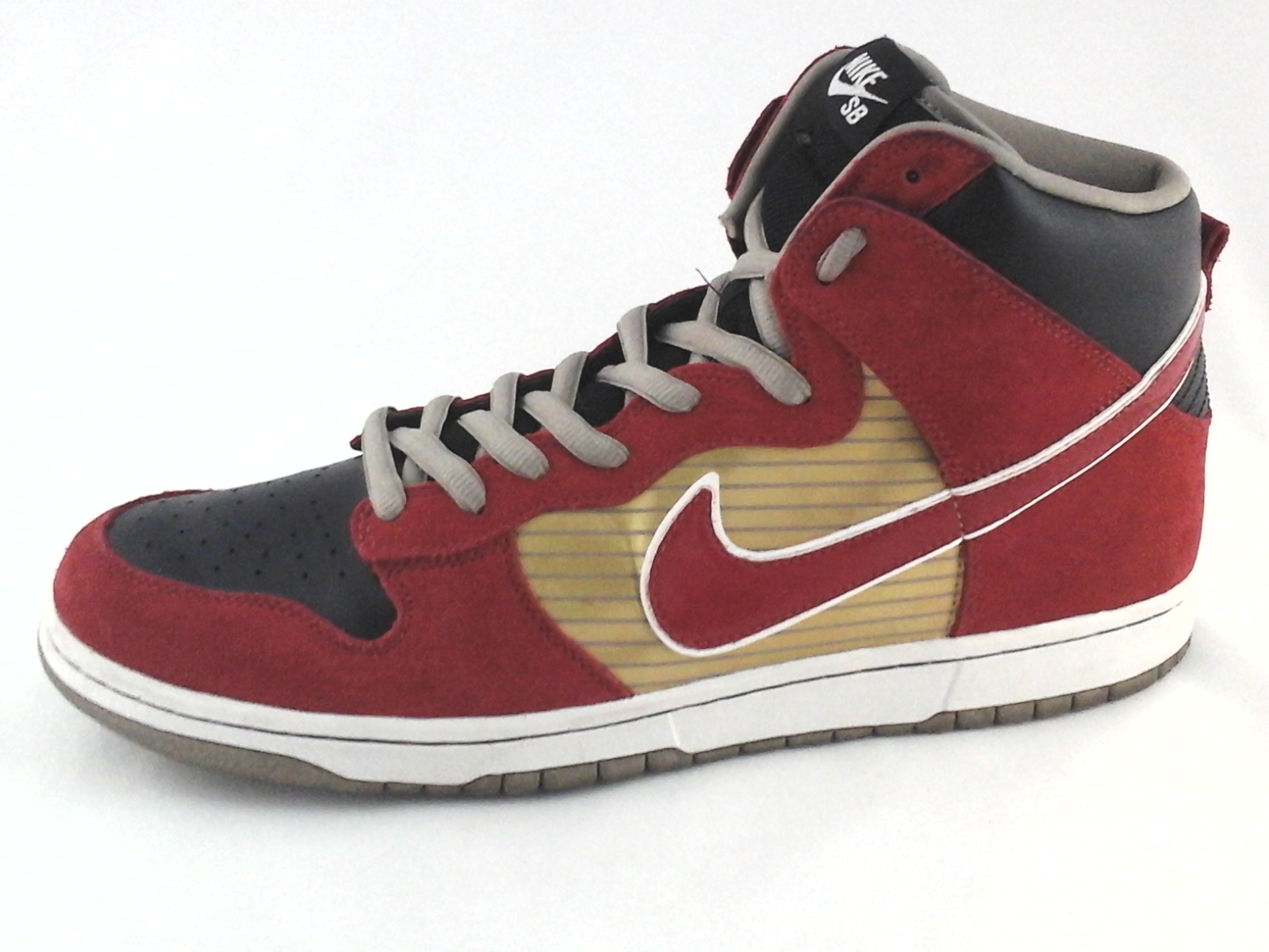 14c9cbf224a1 Details about NIKE SB High Top Shoes Red Gold Black 305050-701 Sneakers  Men s US 13  47.5 RARE