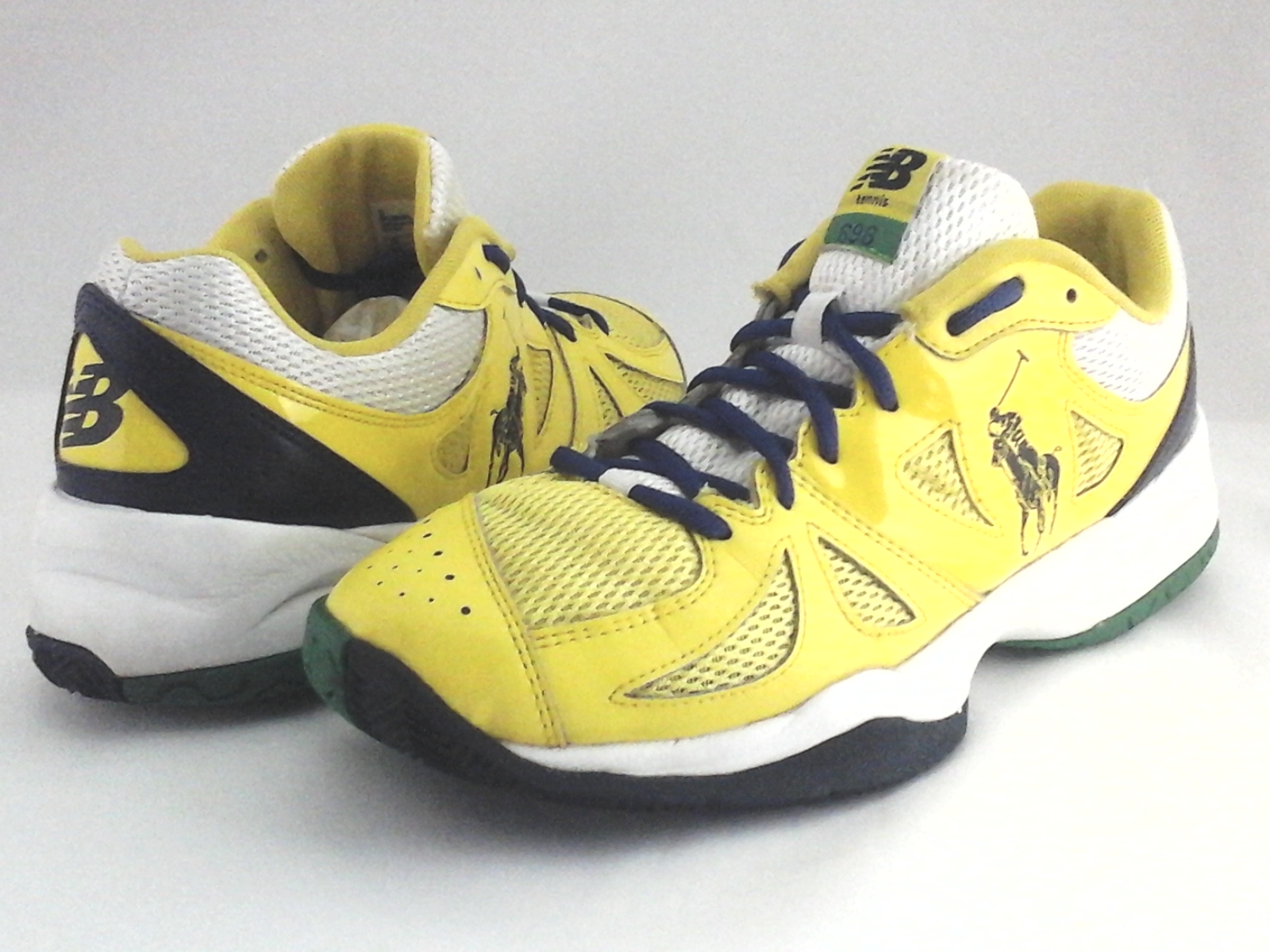 meet eb7e6 5a089 Details about POLO Ralph Lauren New Balance Shoes 696 Yellow NB MC696PL Sneakers  Mens US 10 44