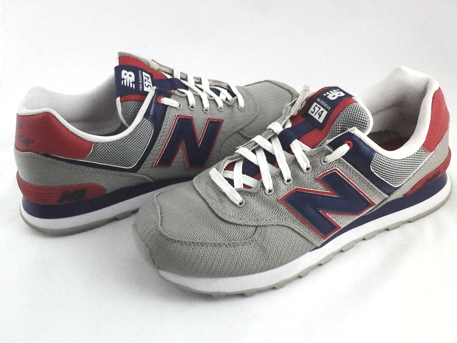 303f3256392f0 Details about NEW BALANCE Shoes 574 Encap Silver/Blue/Red Running Sneakers  Men's US 8.5 EU 42