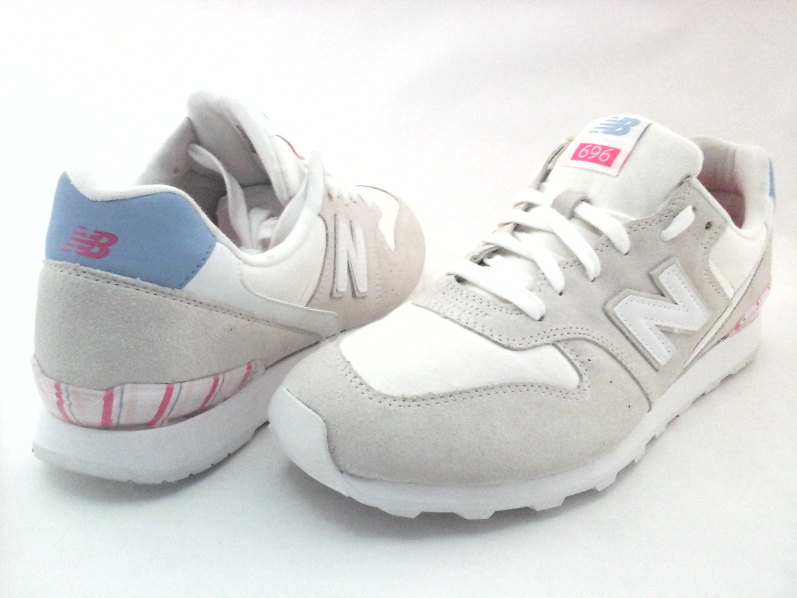 e6b6c962cd1cd New Balance WL696OSA Womens 696 Classic Retro Sneakers Shoes Off White US 12