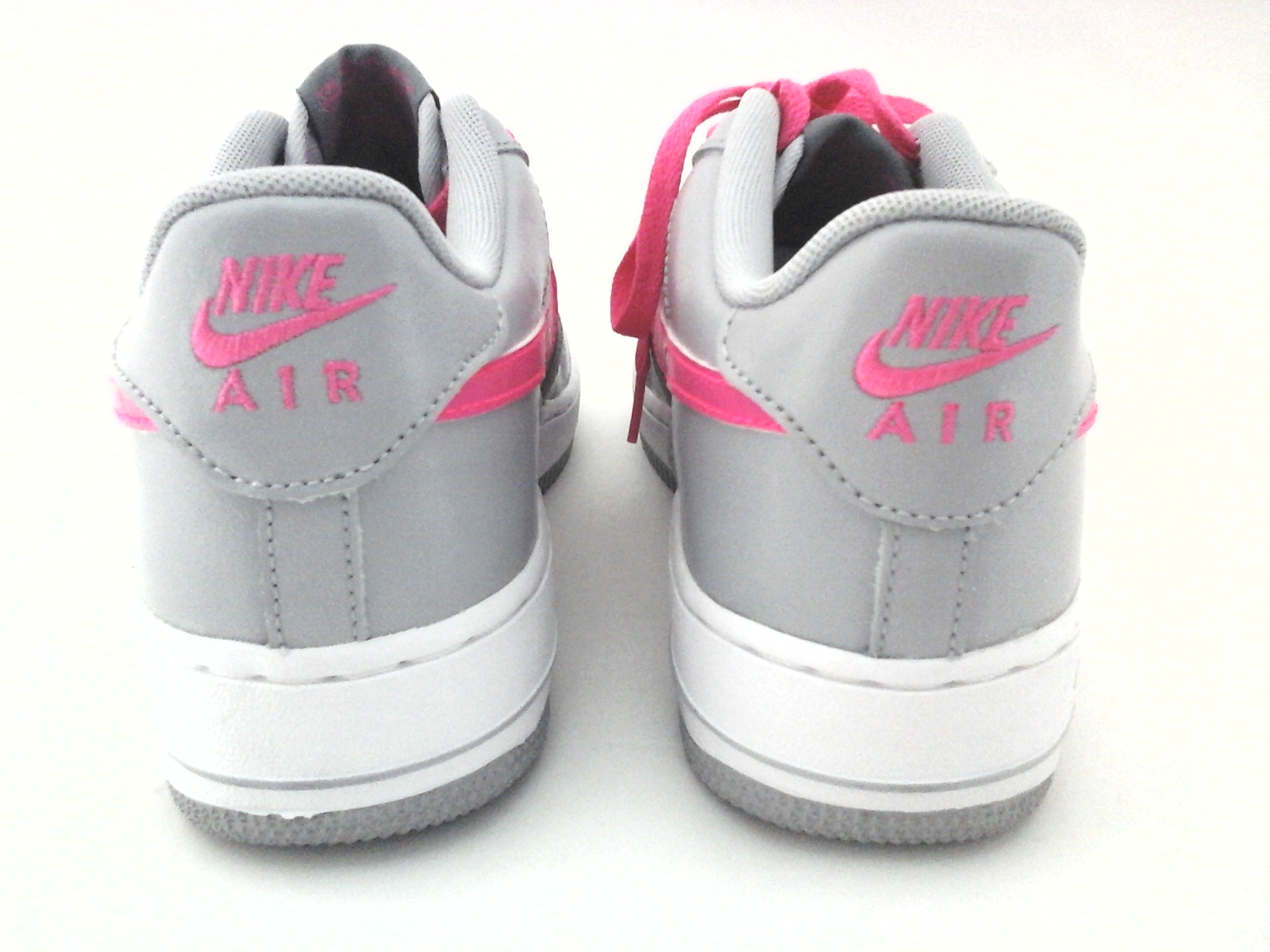 official photos 6cbc4 5c8c3 Nike Air Force 1 Grey Hyper Pink 314219 013 Junior School Sz 7 Y New w o Box