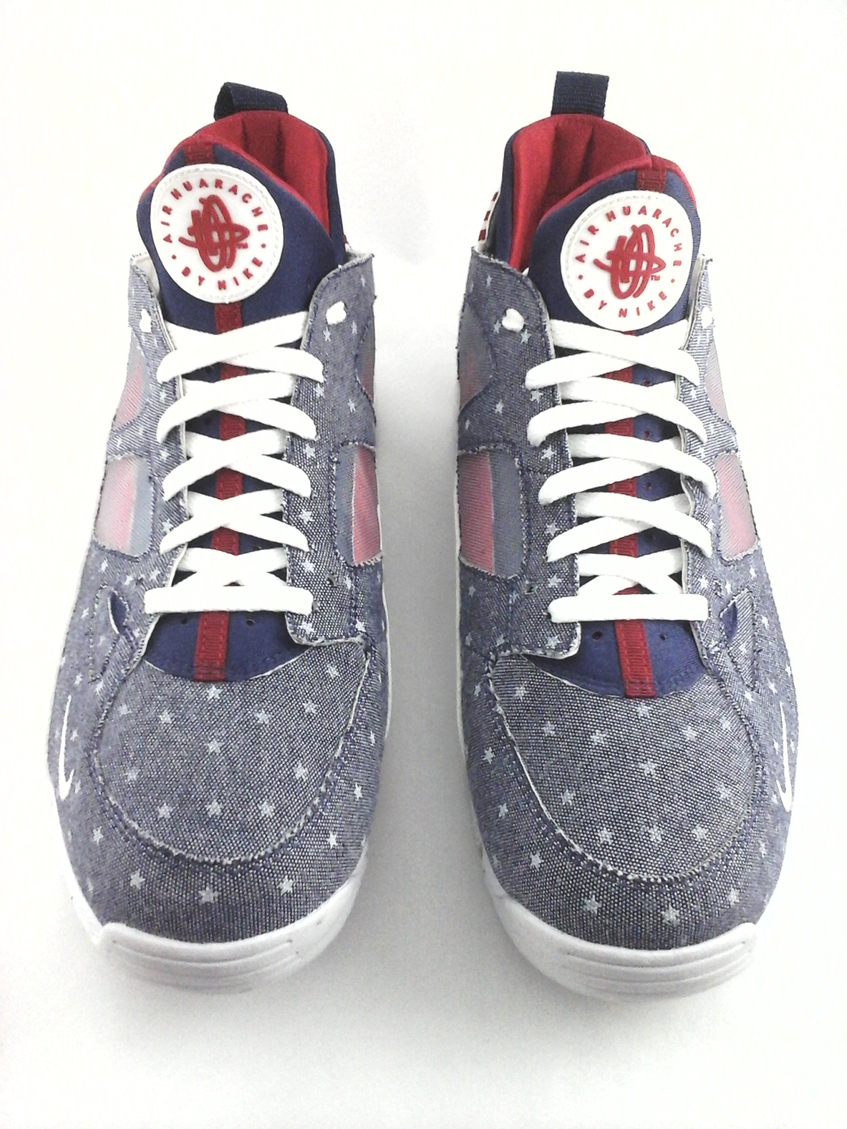 af8f0085da62 NIKE Air Huarache Shoes Denim Stars Blue Red Flag USA Sneakers Men s US 12   149