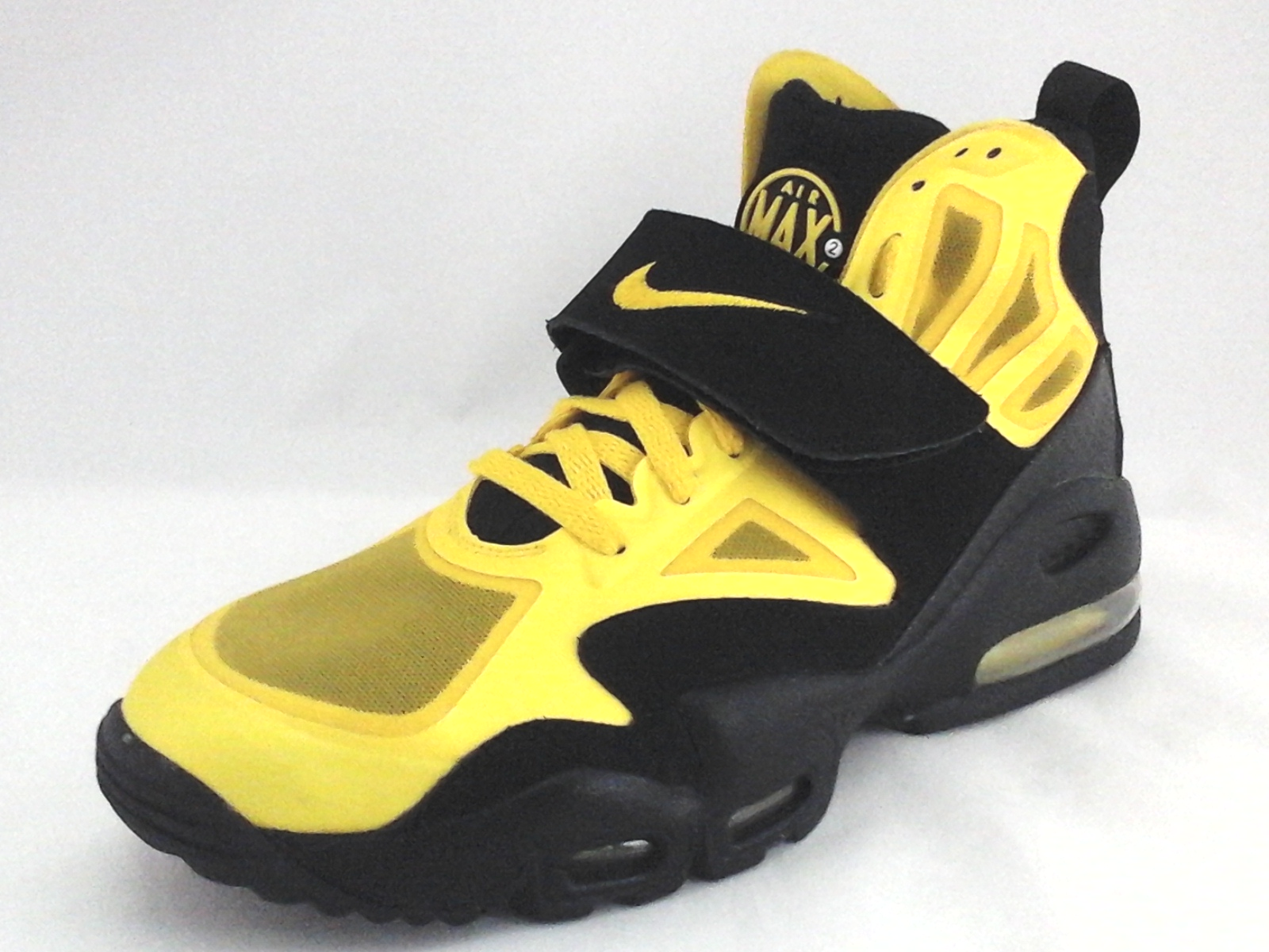 wholesale dealer 4570e 18561 NIKE AIR MAX Shoes Yellow Black 525224 High Top Sneakers Men s US 9.5 EU 43  RARE