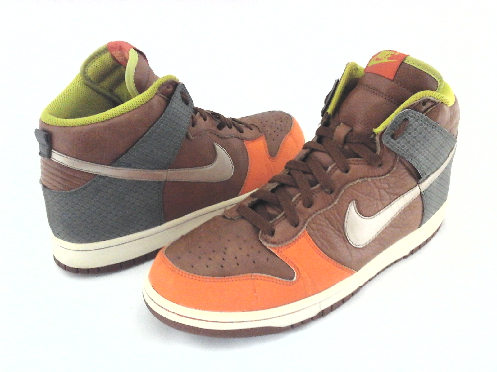 cae398cfed71 Details about NIKE Shoes 312786-891 Brown Gray Orange High Top Sneakers Mens  US 10.5 44.5 RARE