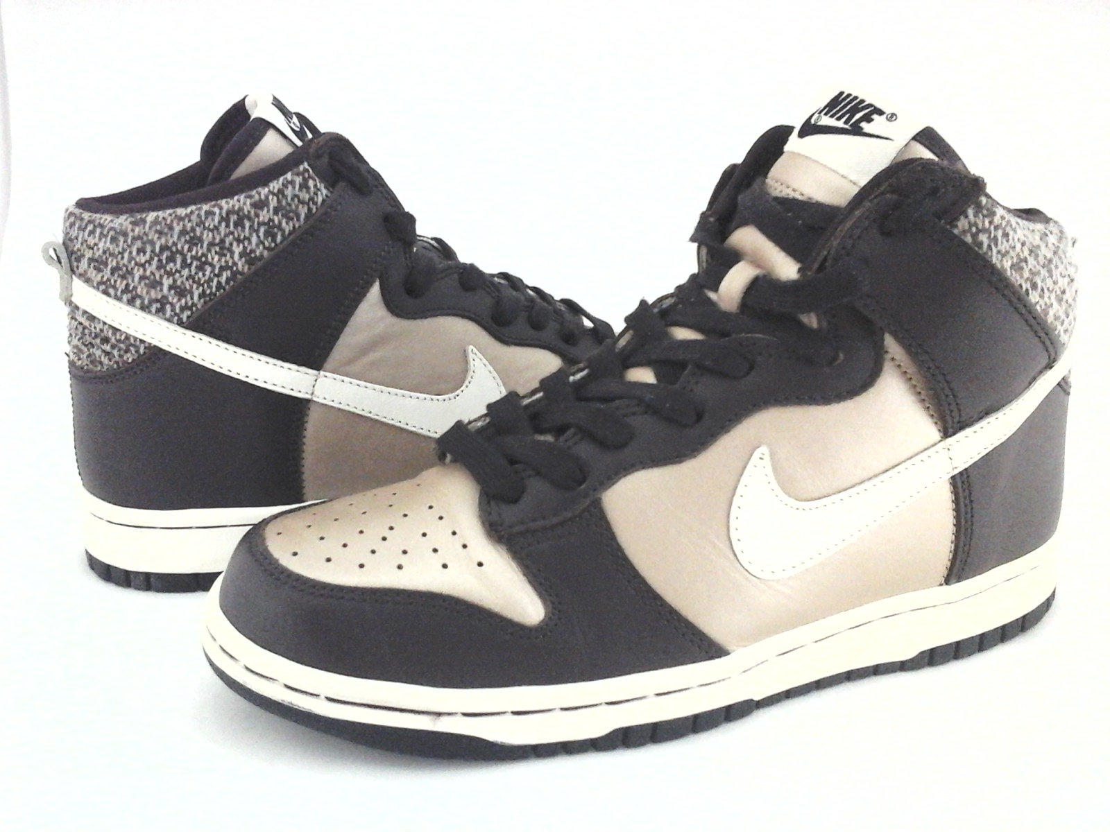 new style d4d5e 90367 Details about NIKE Dunk Sneakers High Top Brown Champagne 309432-911 Womens  US 7.5   38.5 RARE