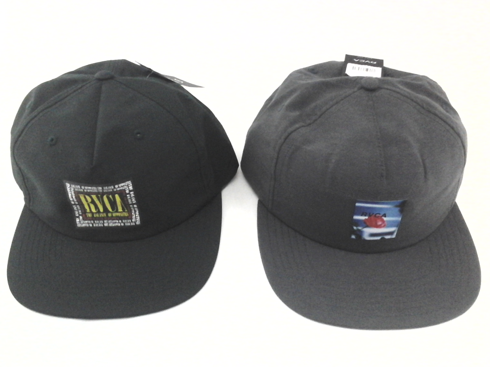 188d91cf Details about RVCA Lot of 2 Hats Baseball Caps Green w Logo and Gray w Rose  Snapback $60 New