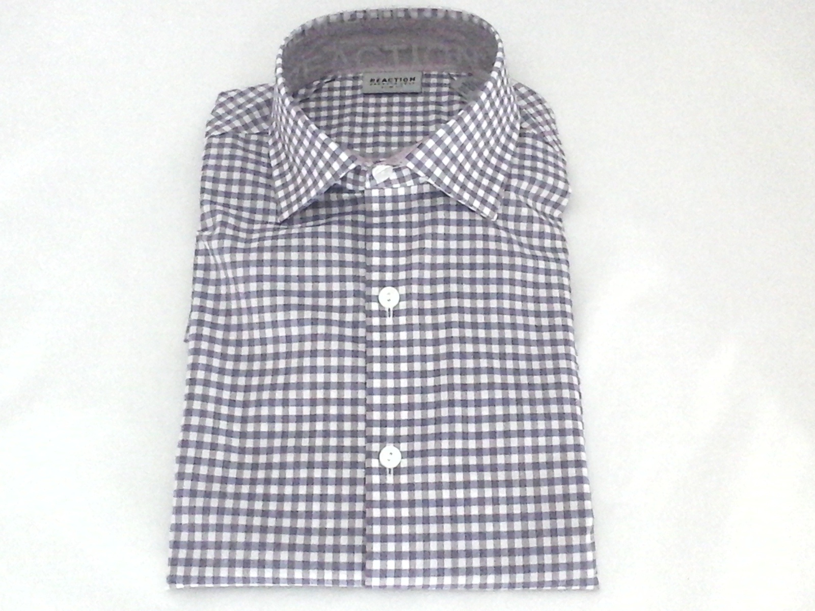 f5bee3430c KENNETH COLE Berry Plaid Slim Fit Stretch Dress Shirt Mens M 32-33 $69.50