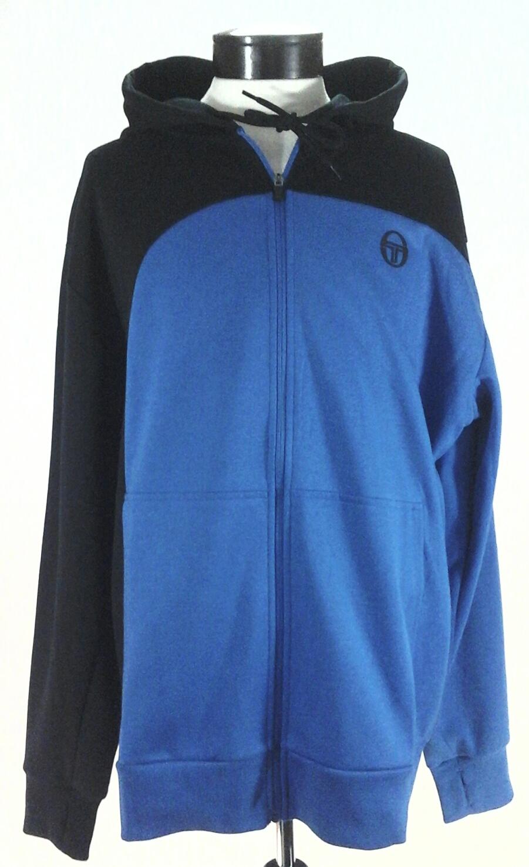 92587a66c0 Details about SERGIO TACCHINI Hoodie Jacket Zip Up Tennis Royal Blue Black  Soft Mens XXL  120