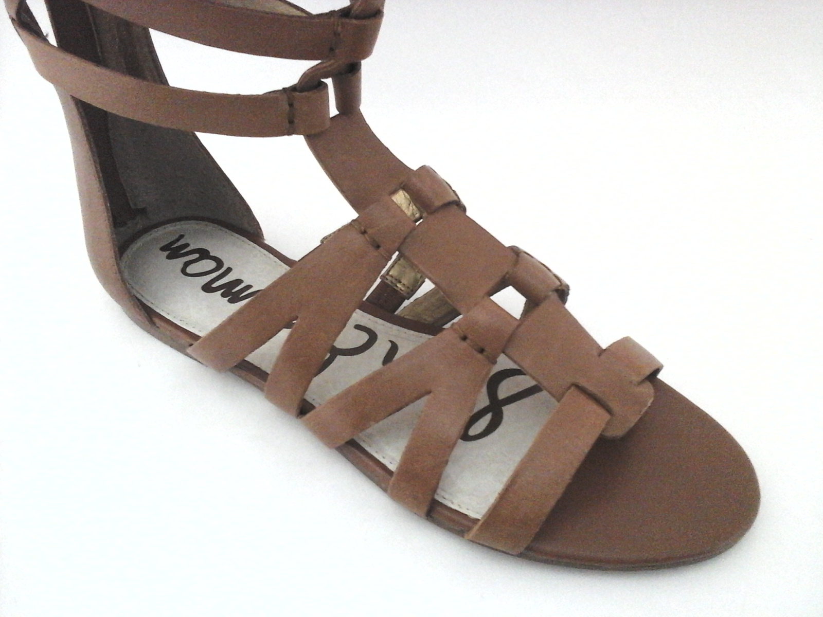 e7bac3bf04b SAM EDELMAN Bryant Tall GLADIATOR Sandals Tan Flat FASHION Zip US 8.5  200