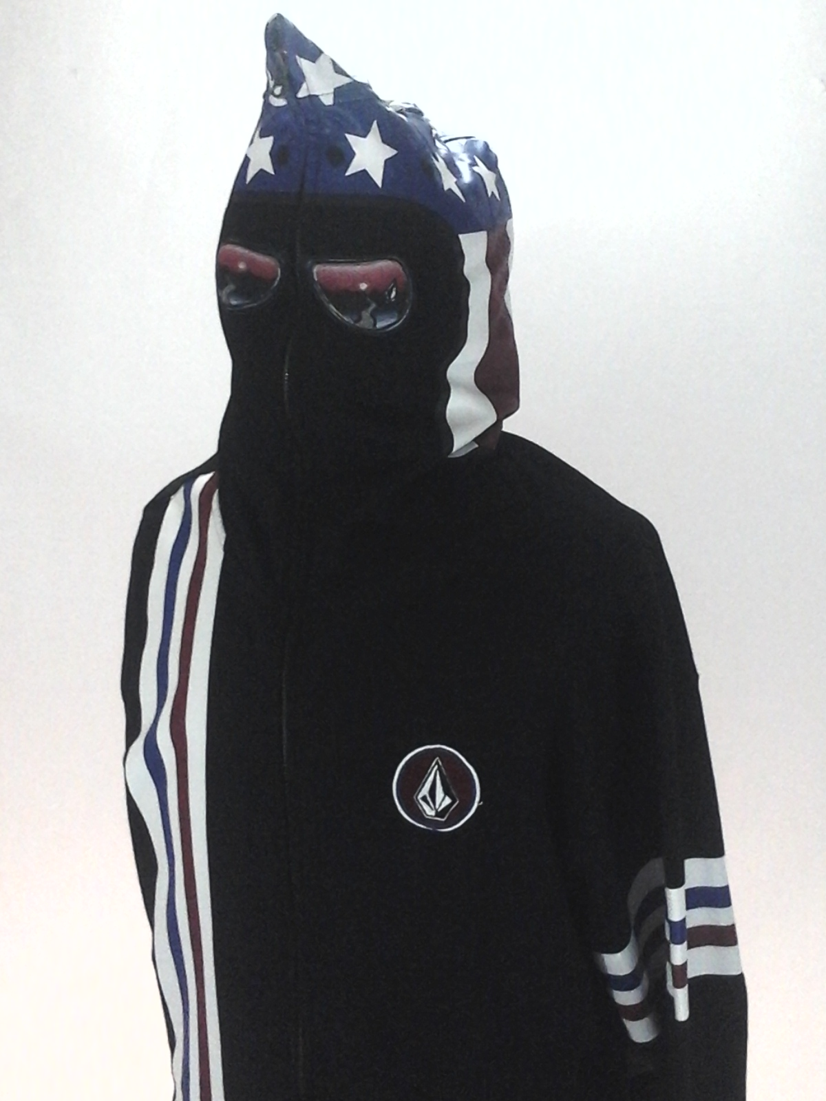 cheapest best loved price reduced VOLCOM Stone Hoodie Jacket Zip Up Racing Black USA INYOFACE Men's ...