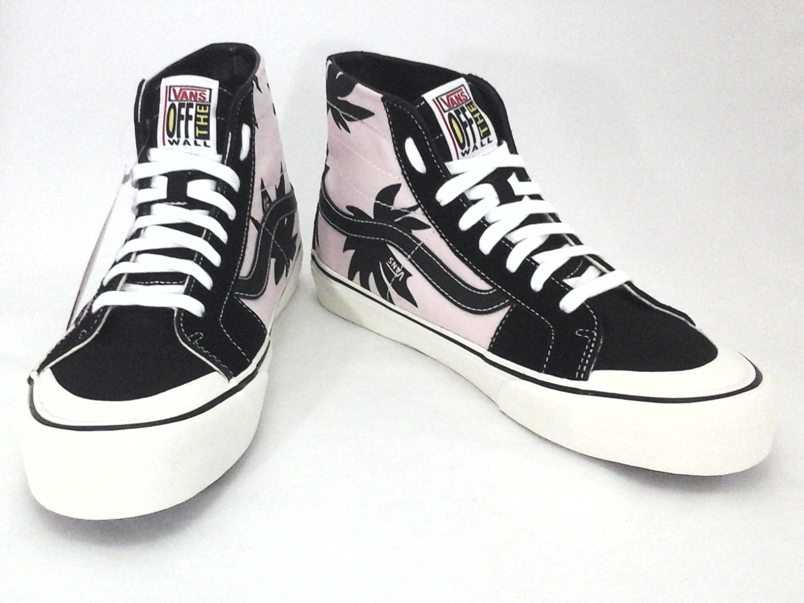 1896c7e4a0 Details about VANS High Top Shoes Skate SK8 Pink Black Palm Floral Unisex  Mens 7.5 Womens 9