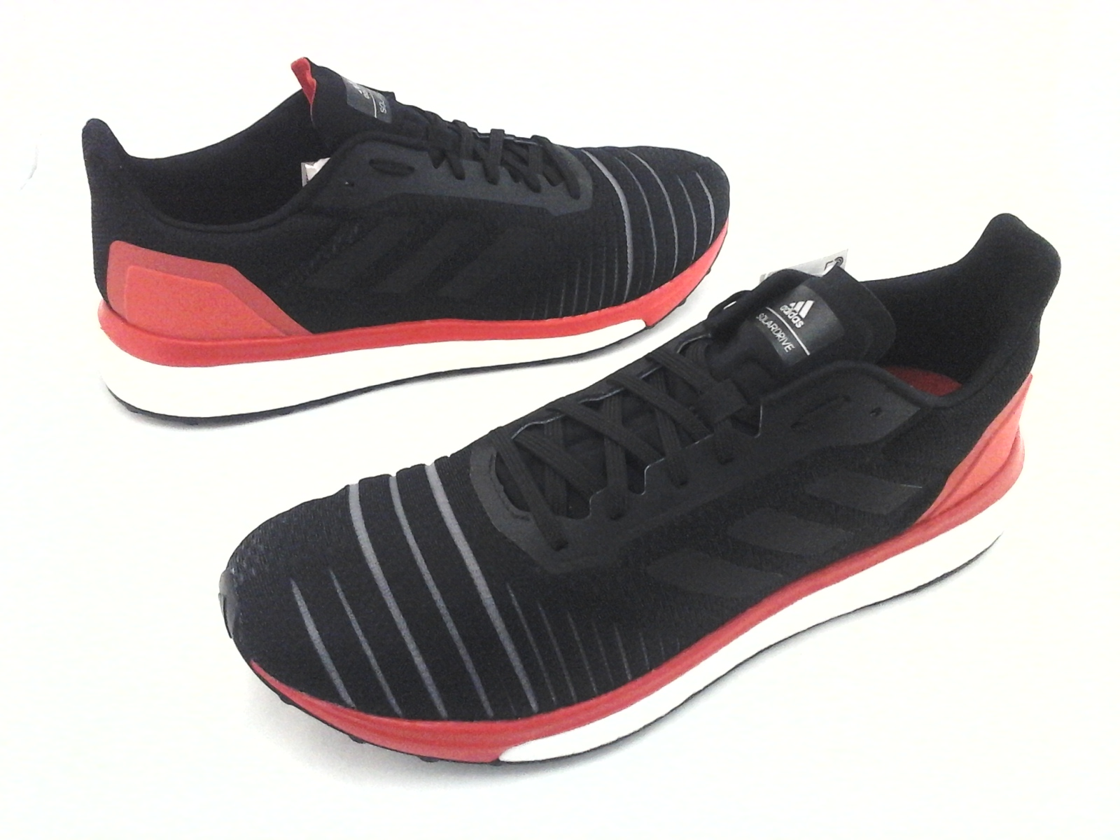 38c8ed8bf ADIDAS Boost Running Shoes Solar Drive Black Red White AC8134 Mens ...