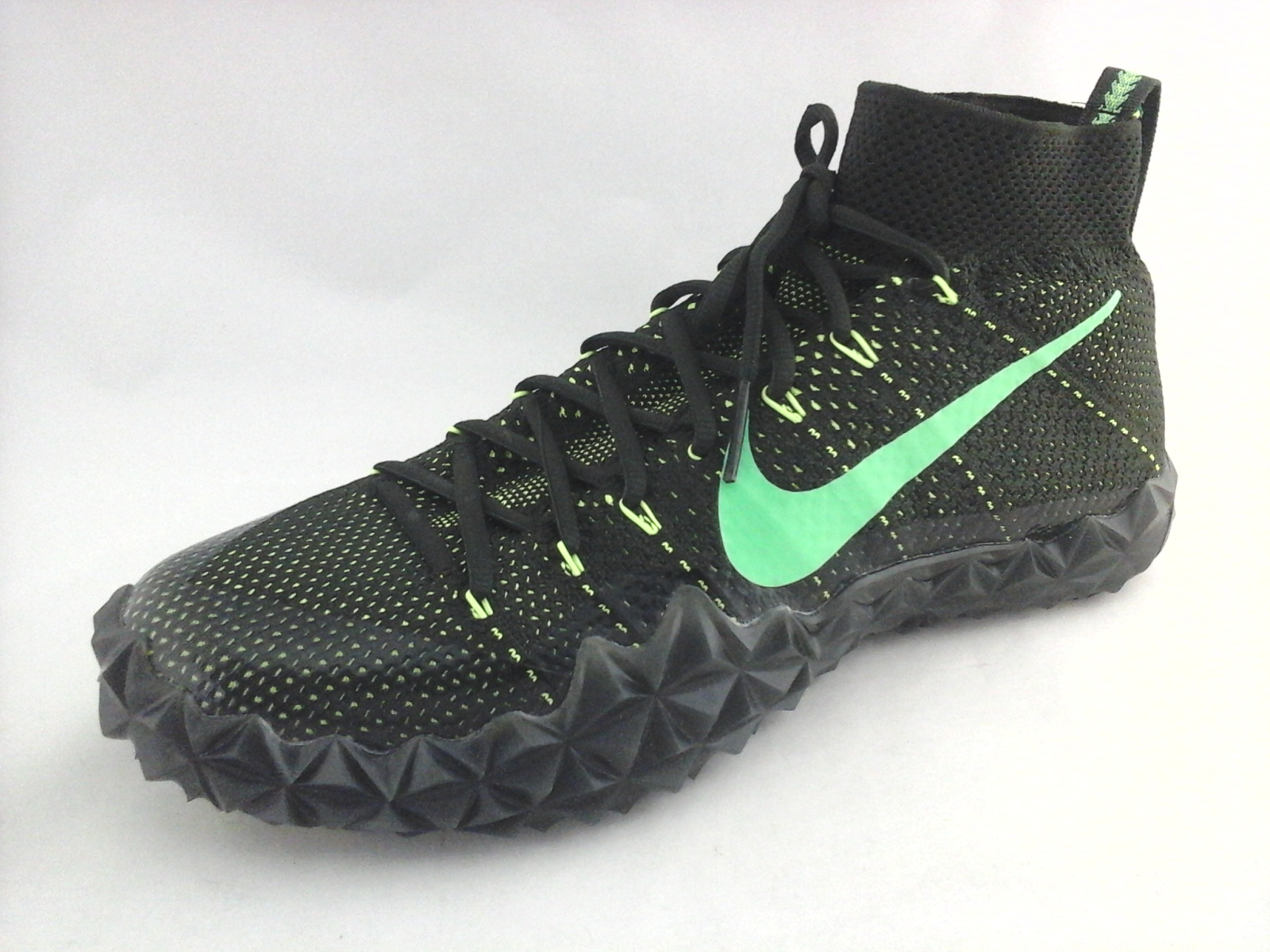 outlet store d3218 b063d Details about NIKE Alpha Sensory Turf Football Cleats Knit 854312-337 Black  Green US 12 46 New