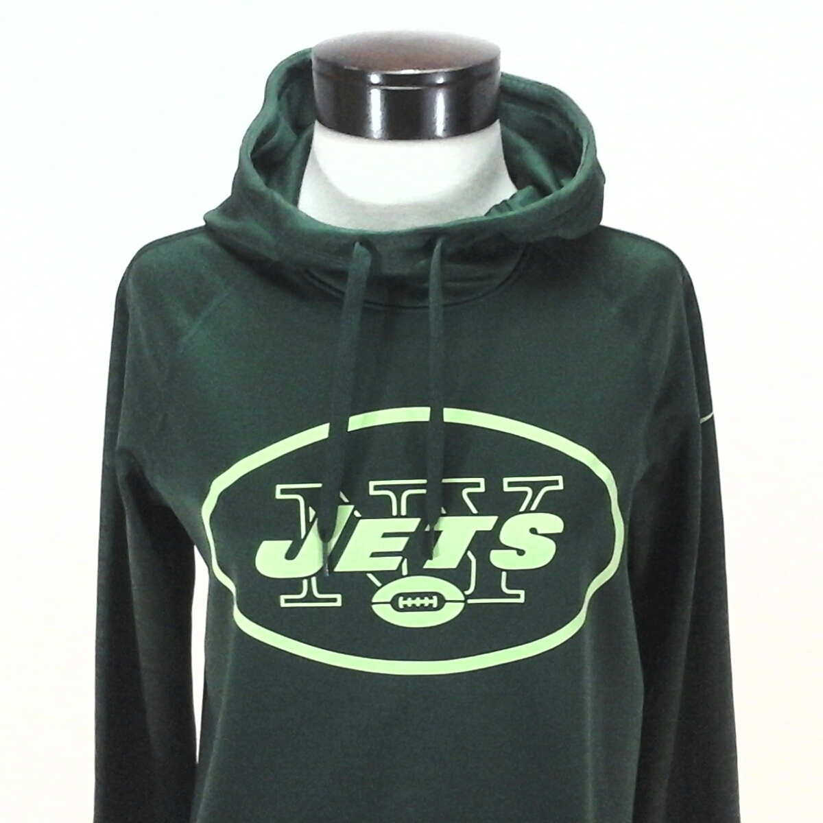 Nike NY JETS Hoodie Therma Pullover Football 842988 Green Dri-Fit Women s S   75 697f8bd89
