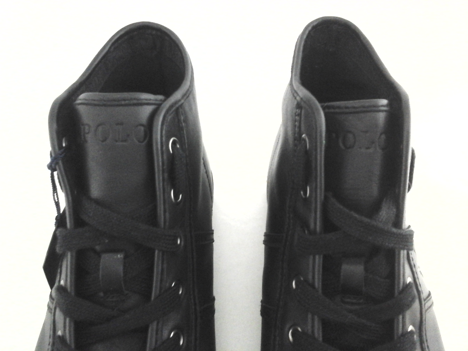acb67caaf1 POLO RALPH LAUREN Tremayne High Top Shoes Black Nappa Leather US 12 ...