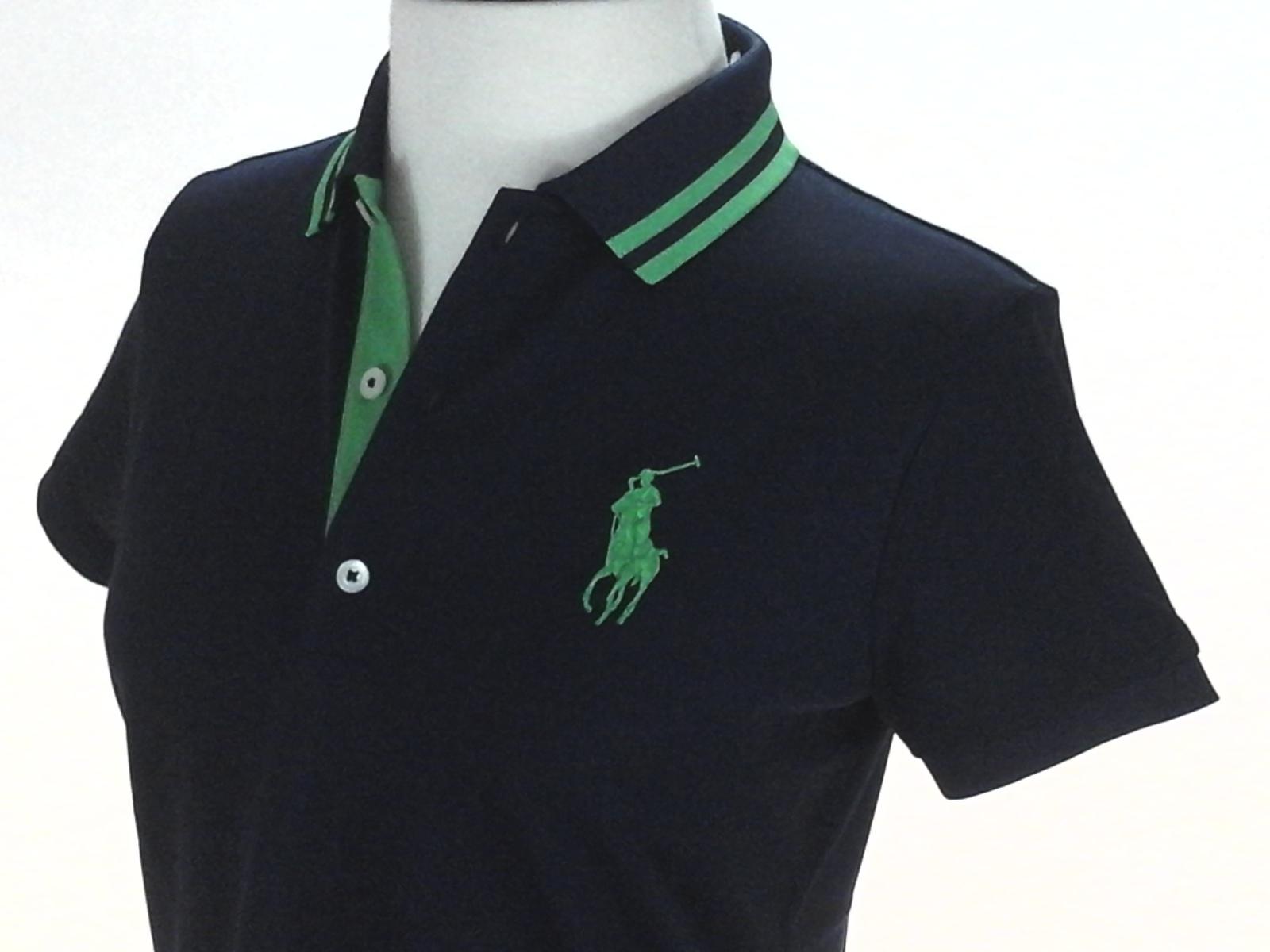 04d927e907b RALPH LAUREN Golf Polo Shirt Big Pony French Navy w Green Womens S  98 New  RARE