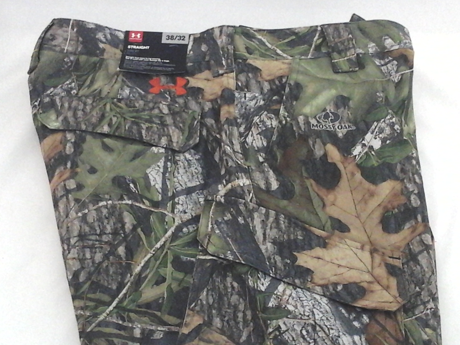 2f3f568f5e050 Details about UNDER ARMOUR Pants Storm 1 Mossy Oak Camo 1238327 Straight  Loose Mens 38 x 32