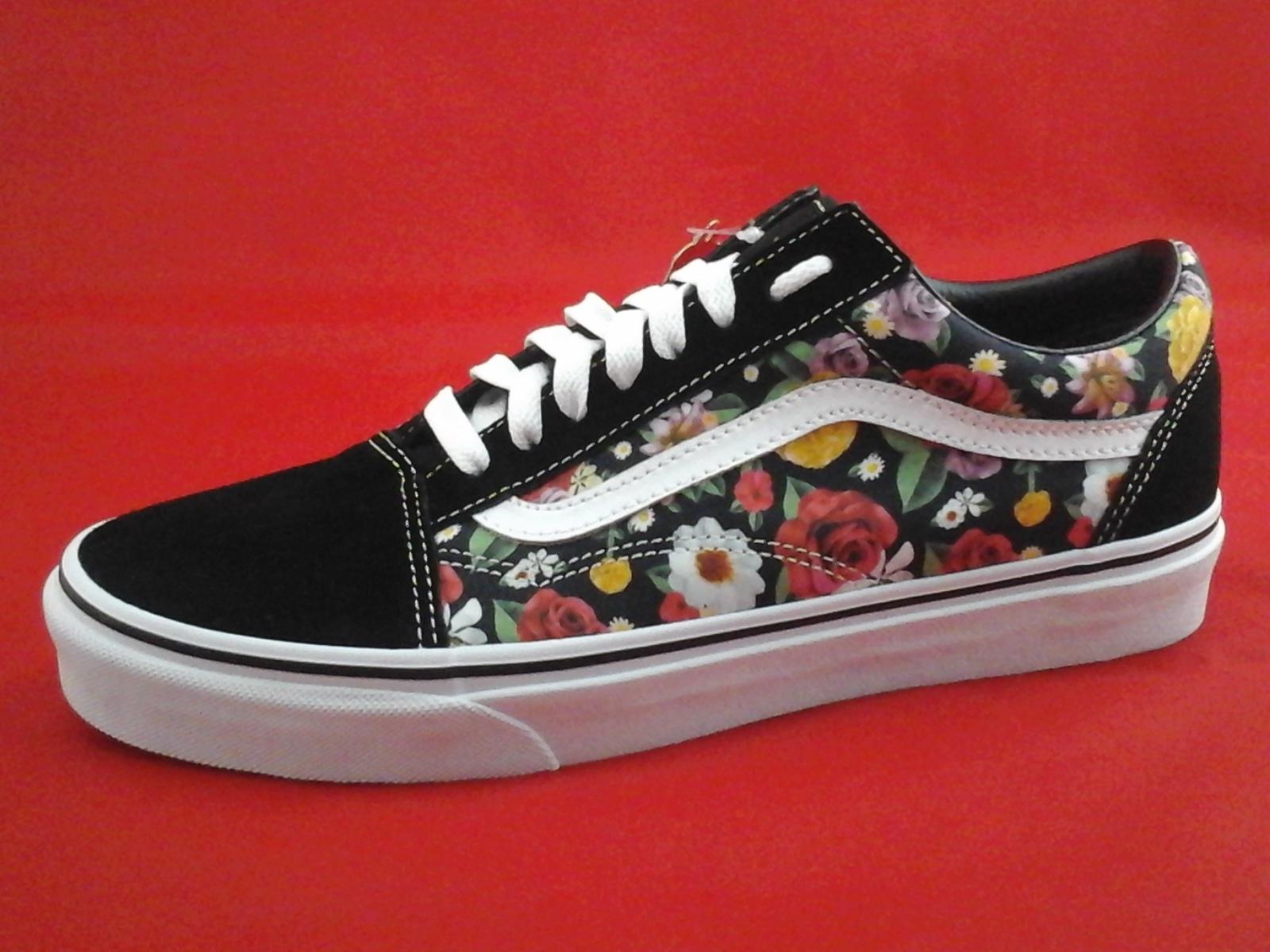 Details about VANS Shoes Black Roses Floral Old Skool Skate Unisex Mens 9  Womens 10.5 New b79f7e3ef6