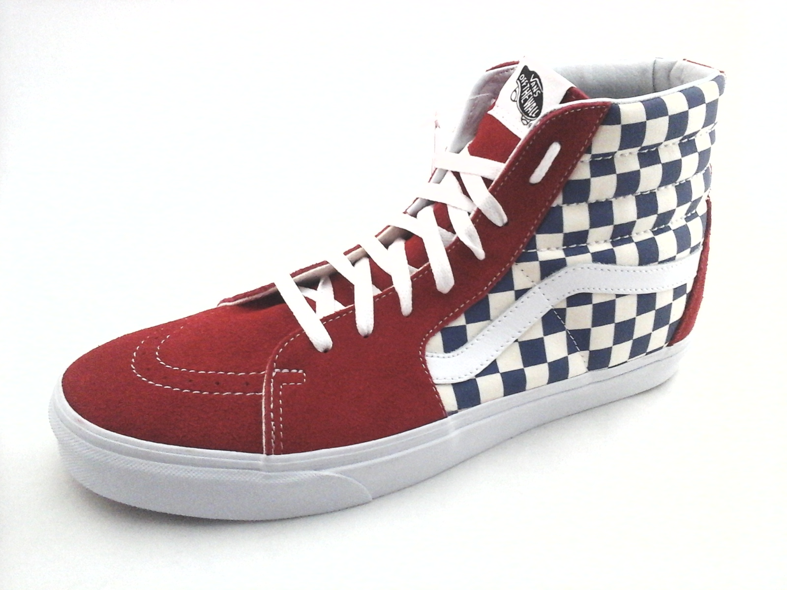 d74f81e960 Details about VANS Shoes SK8 Hi BMX Checkerboard Red Suede w Blue Cream Mens  US 13 EU 47 New