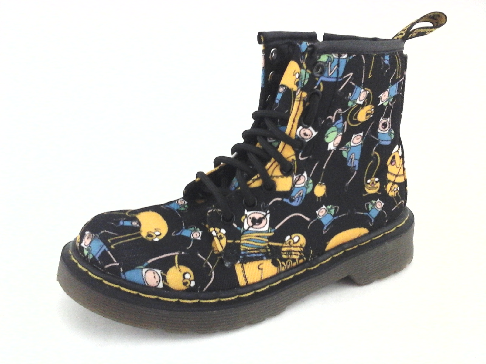 affordable price best website entire collection Details about DR MARTENS Delaney Combat Boots Adventure Time Black Jake  Boys Youth US 13 $149