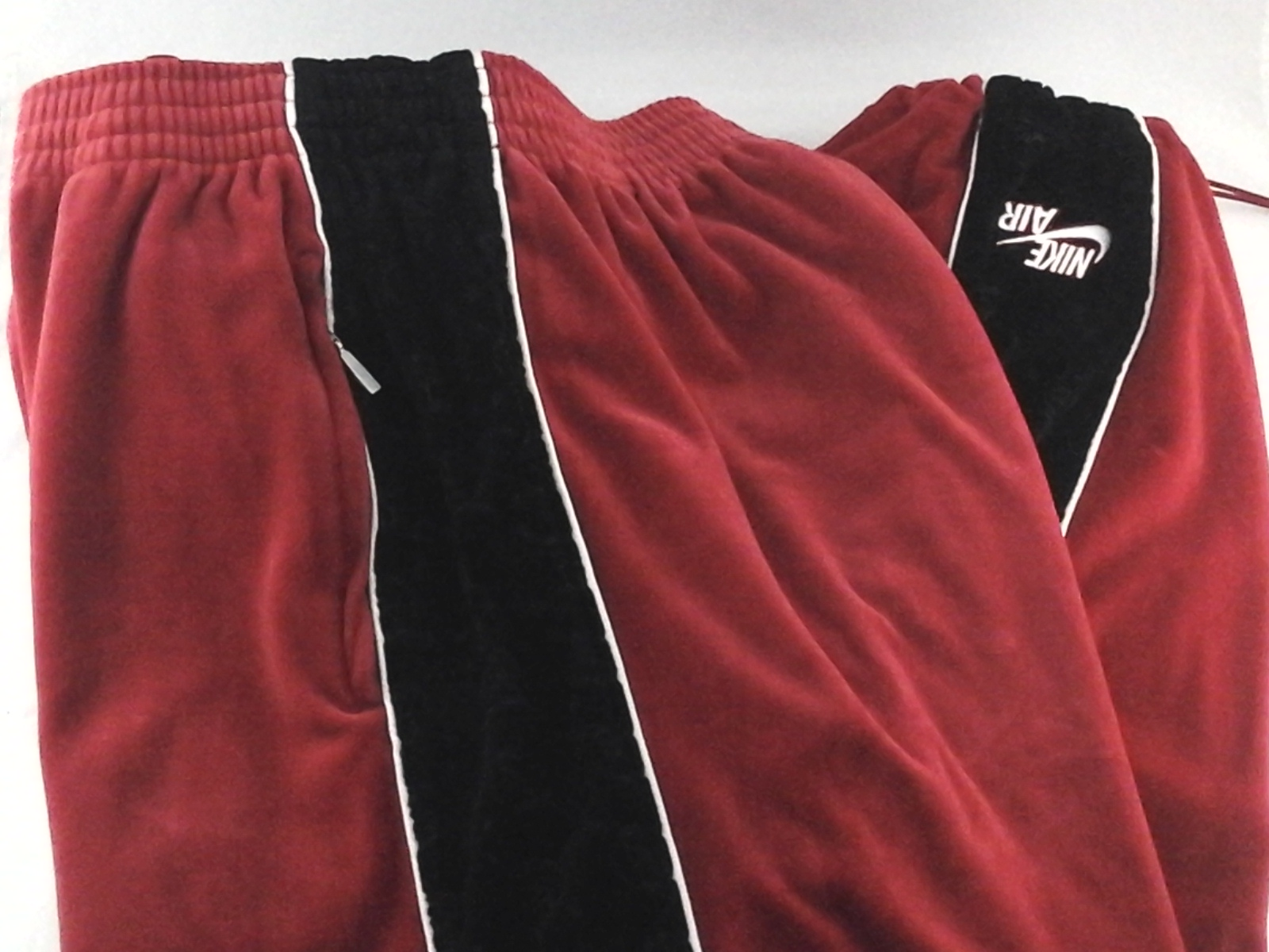 pretty nice various design new lifestyle Details about NIKE AIR Sweatpants Track Pants Vintage 90s Red Black Velour  BG Mens XL RARE