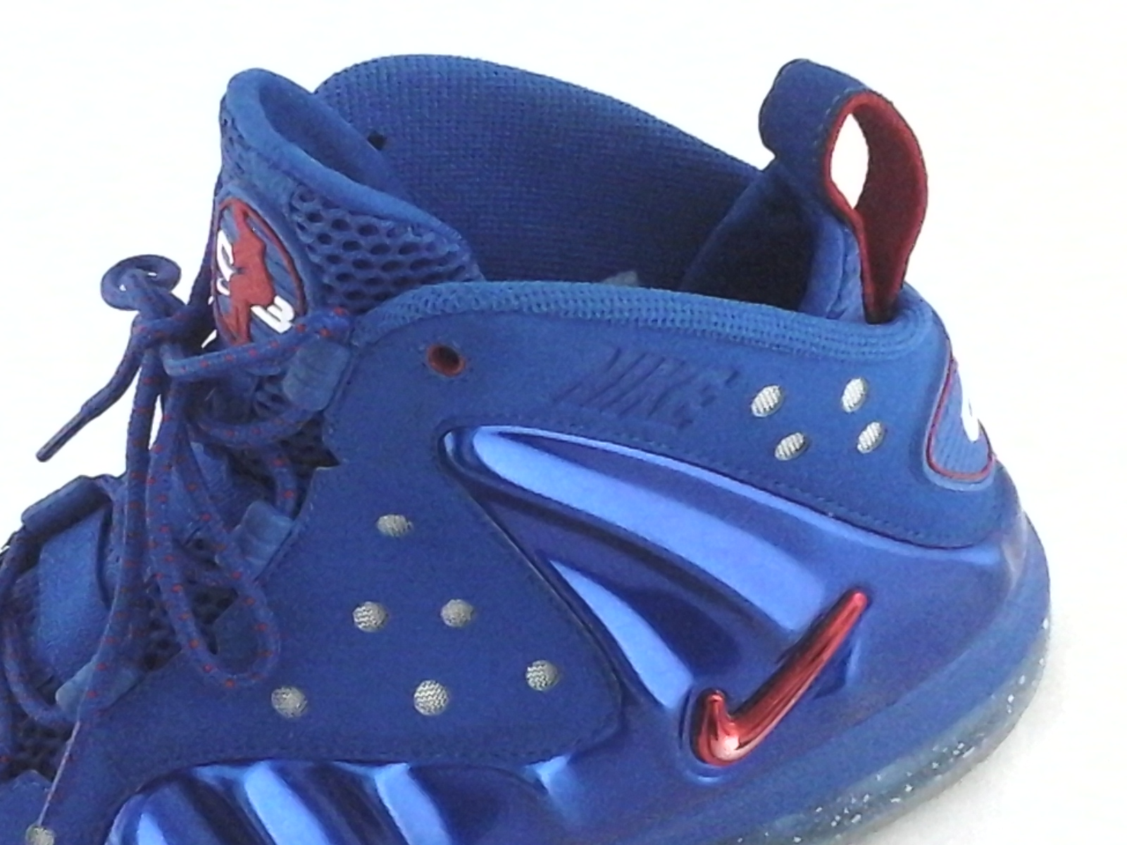 8fad76570395 Nike Posite Max Sixers 76ers Shoes BARKLEY Blue Red 555097-300 Mens US 9 EU  42.5