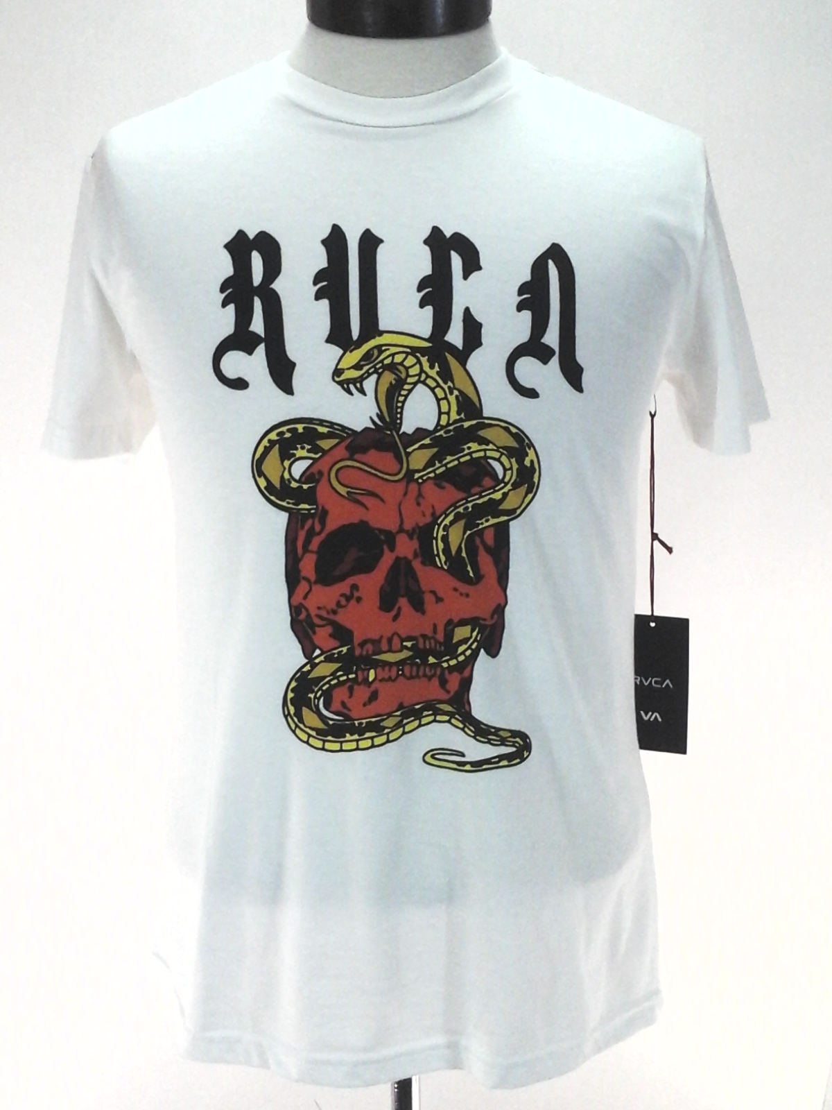 RVCA Men/'s Serpent Type Crewneck Logo Graphic Tee T-Shirt Black
