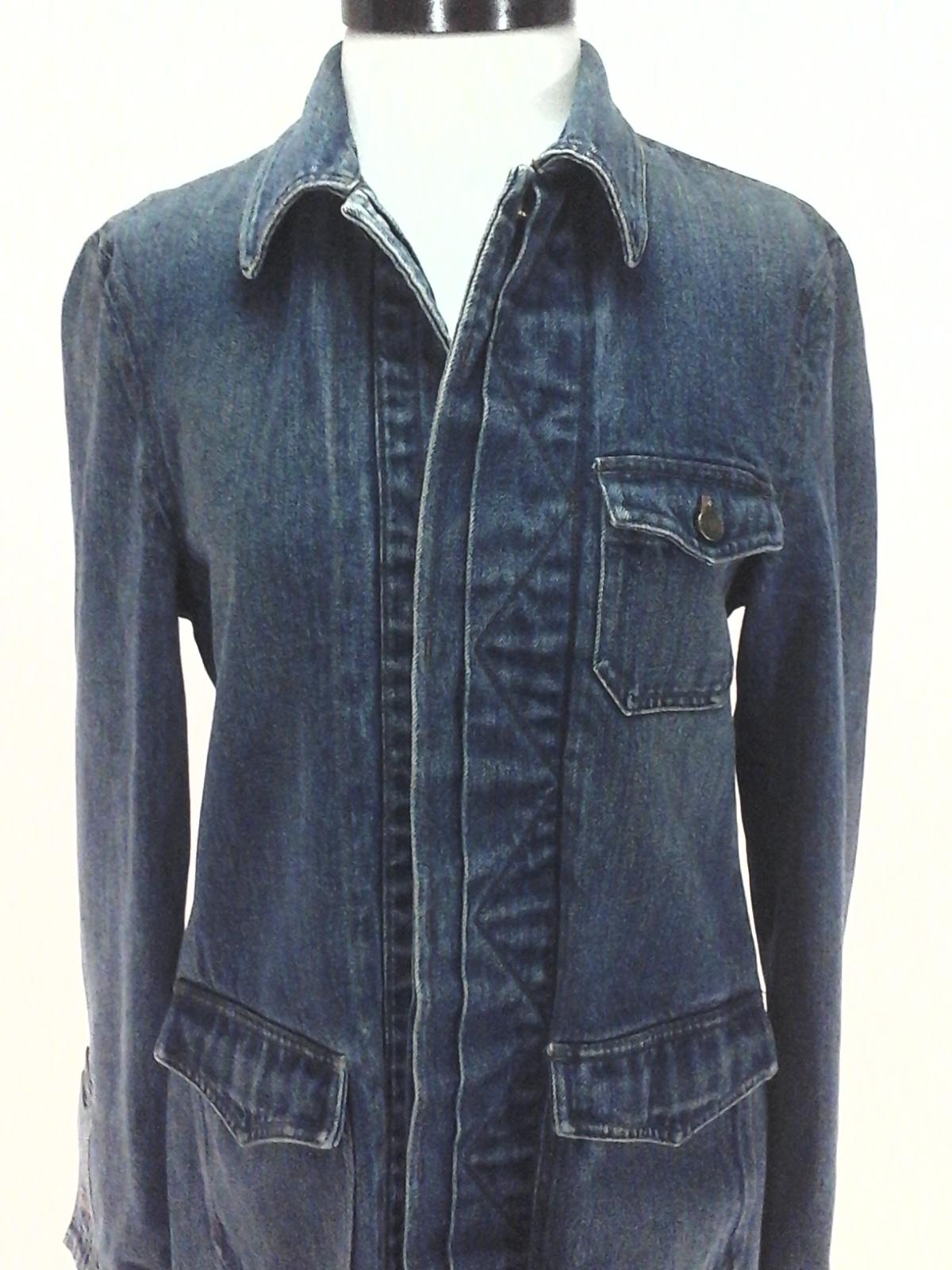 Ralph Lauren Jeans Co Denim Barn Coat Jacket Blue Button ...