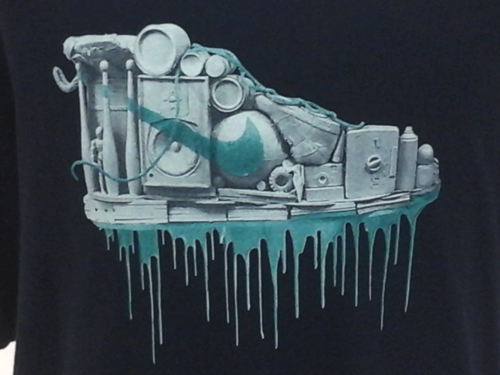 Details About Nike Sneaker Head Swoosh Graffiti Drip Retro Shoe 90s Mens Xxl Rare