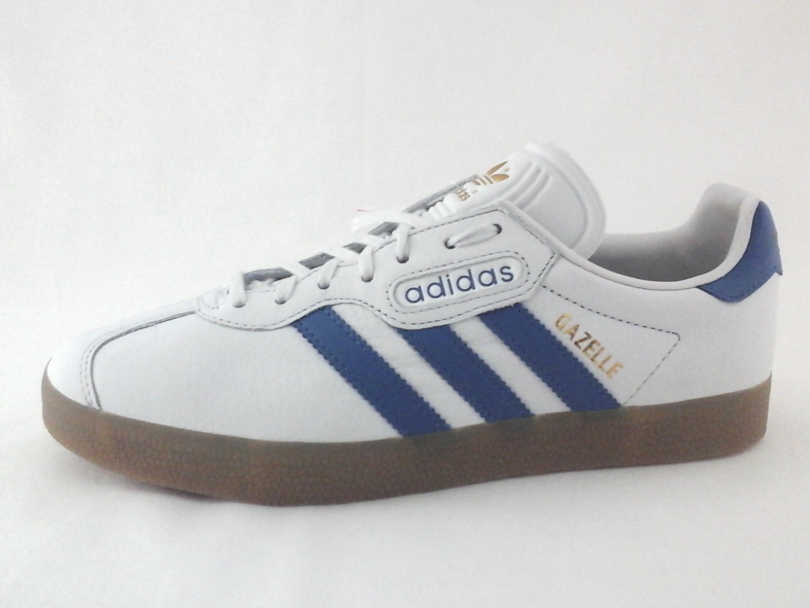 Pornografía salchicha perdonado  ADIDAS Gazelle Super Shoes Off White Blue Gum Soles CQ2798 Mens US 7 EU 40  New | eBay