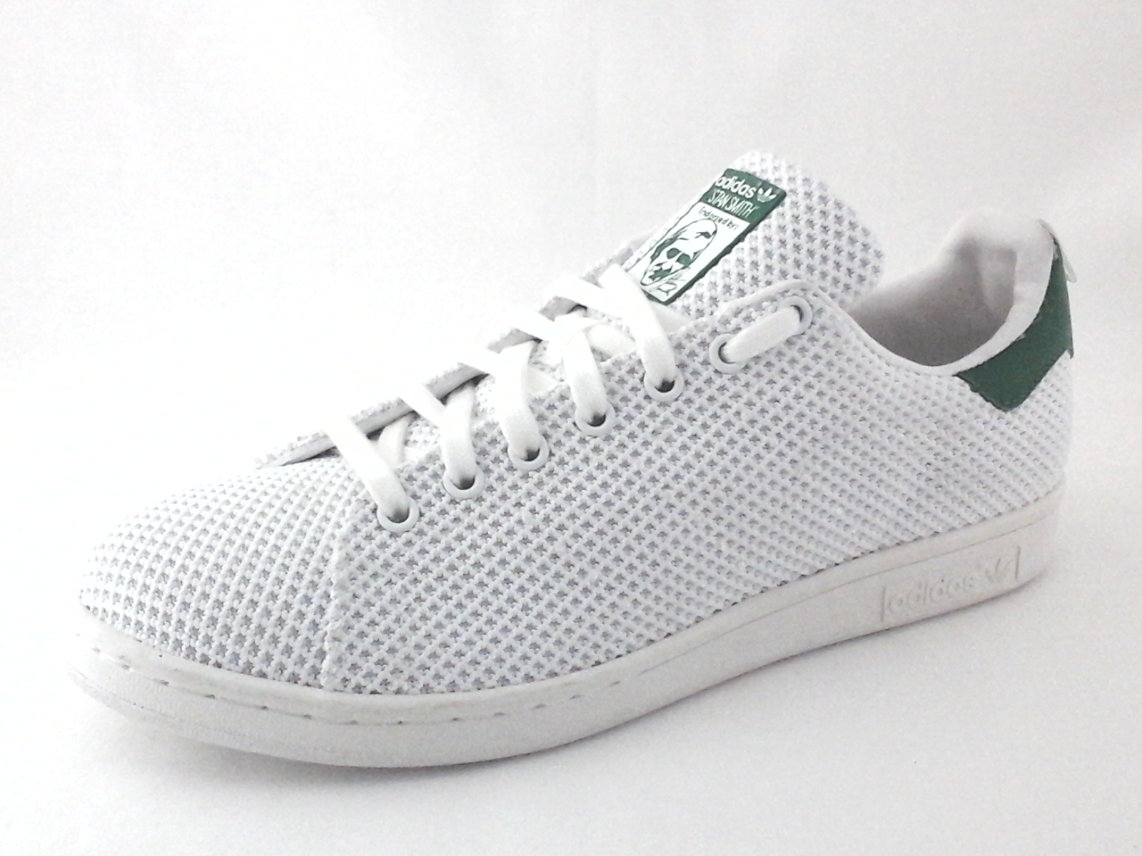 the cheapest united kingdom new high Adidas Originals STAN SMITH CK Textured Canvas White Green Shoes ...