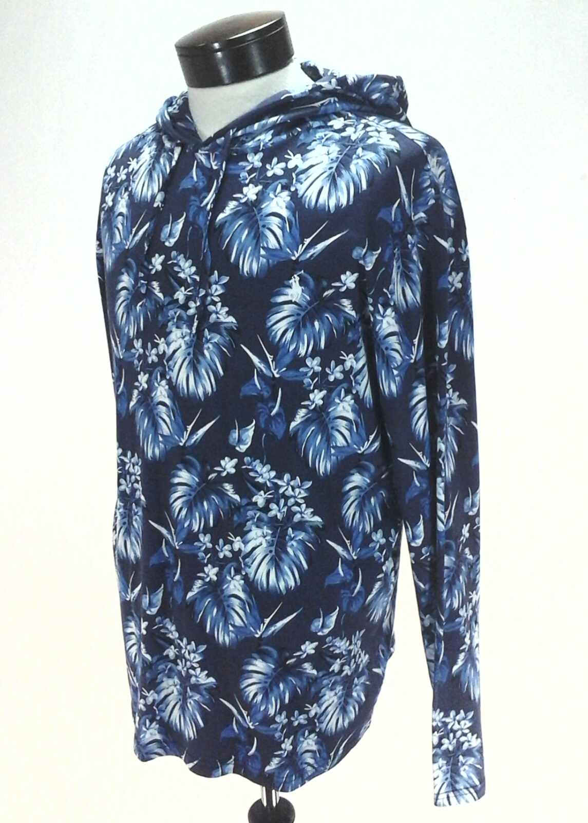 Polo Ralph Lauren Hooded T Shirt Blue Hawaiian Palm Floral Hoodie Mens New Ebay
